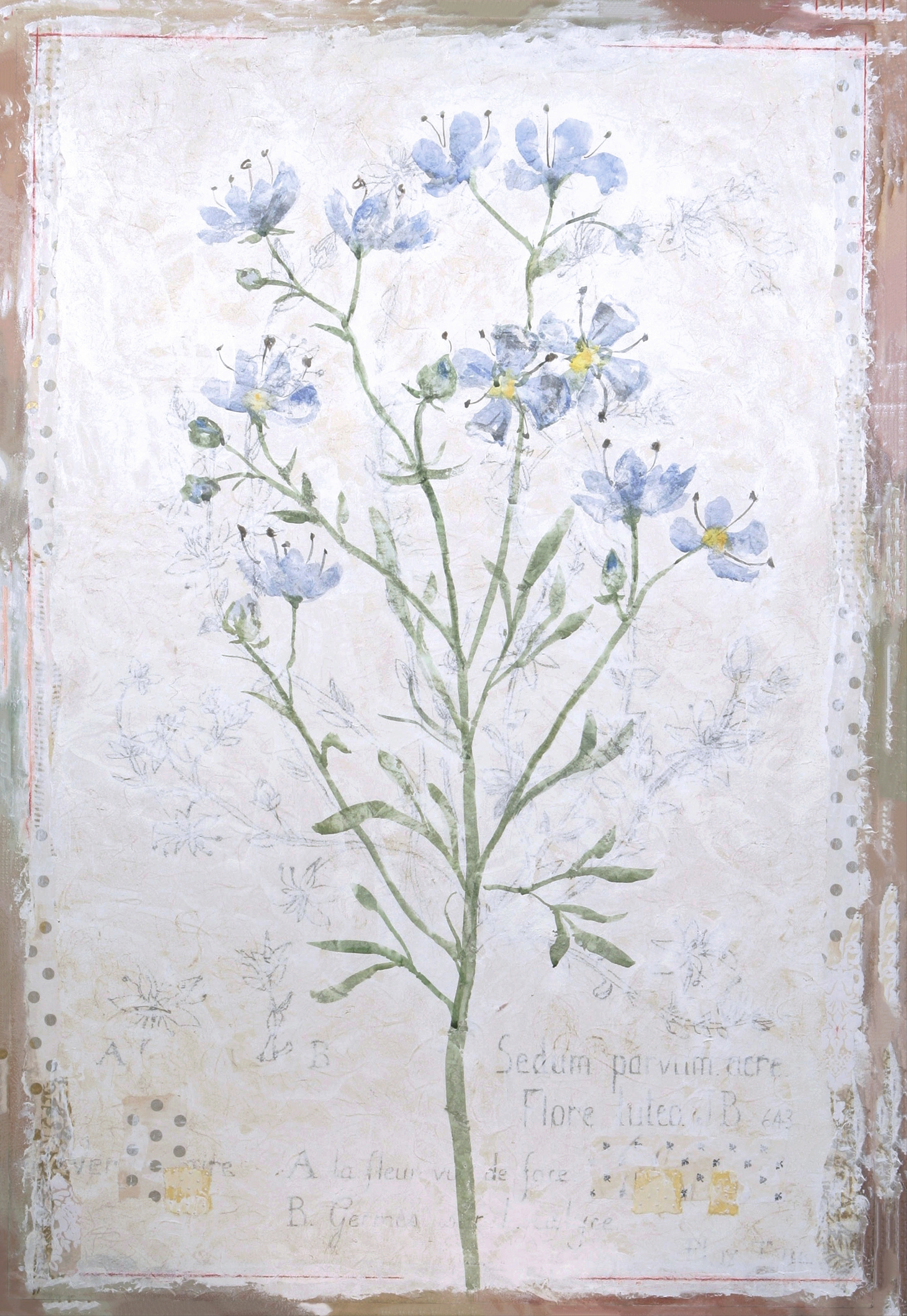 "Blue Flower 36""x24"""