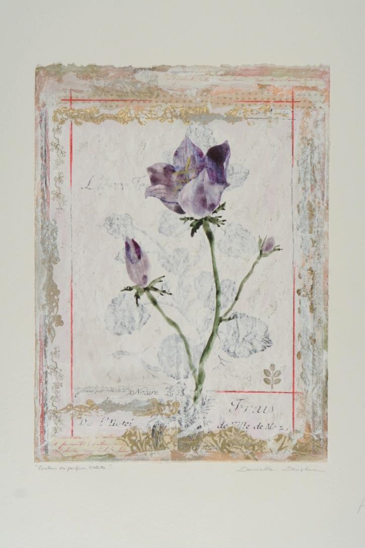 """Couleur de Parfum Violette  19""""x12"""""""