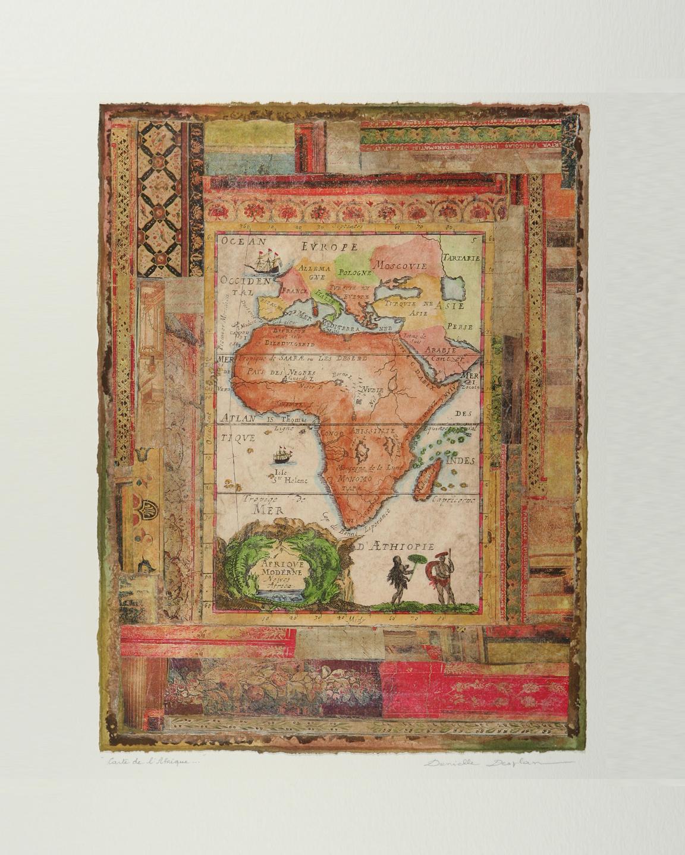 """Carte de L'Afrique  16""""x12"""""""