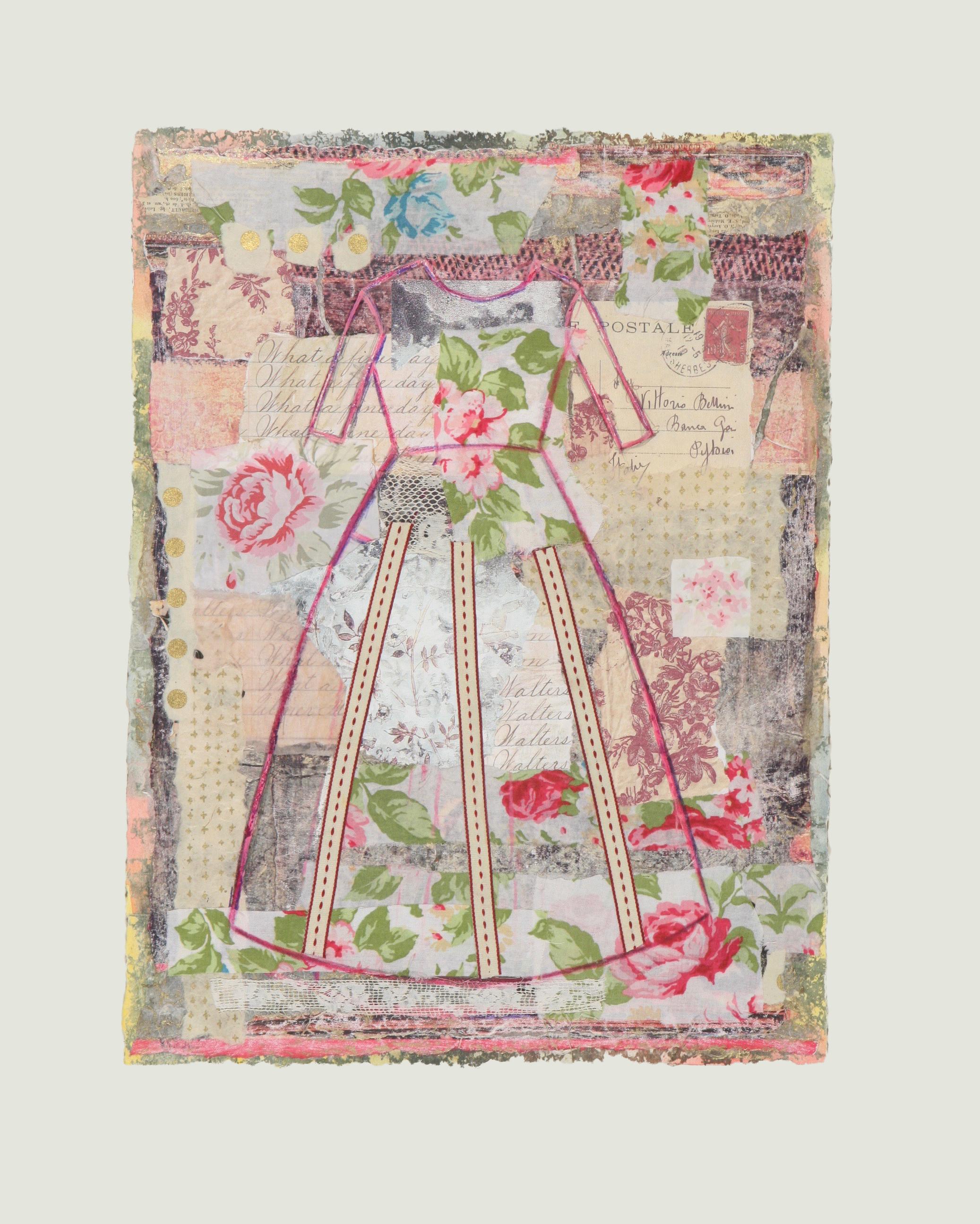 """Robe avec Roses  16"""" x 12"""""""