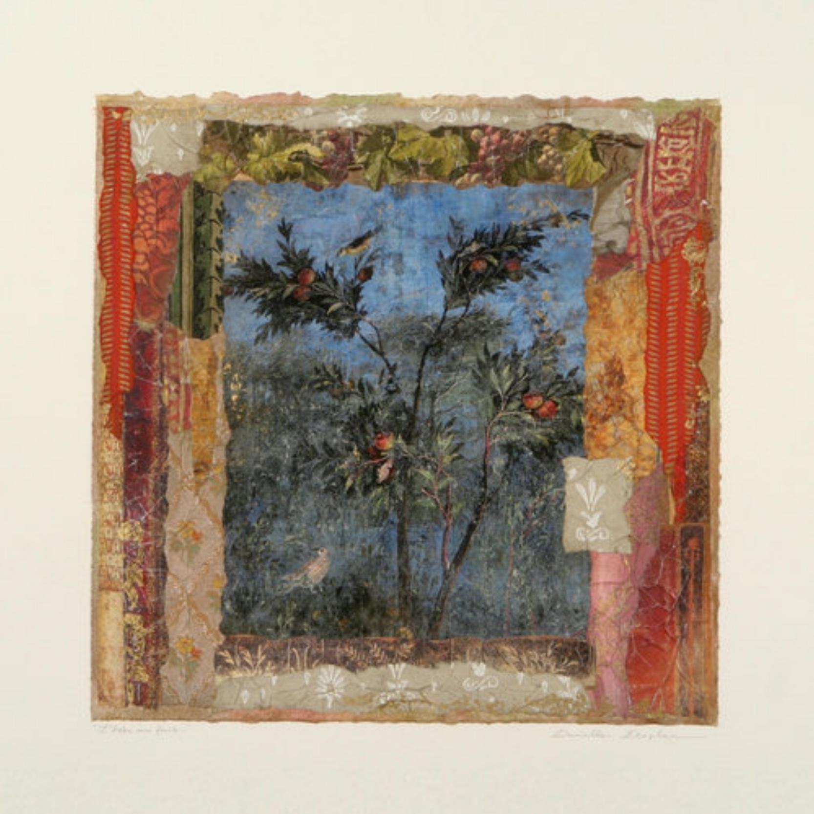 """L'arbre aux Fruits  17"""" x 17"""""""