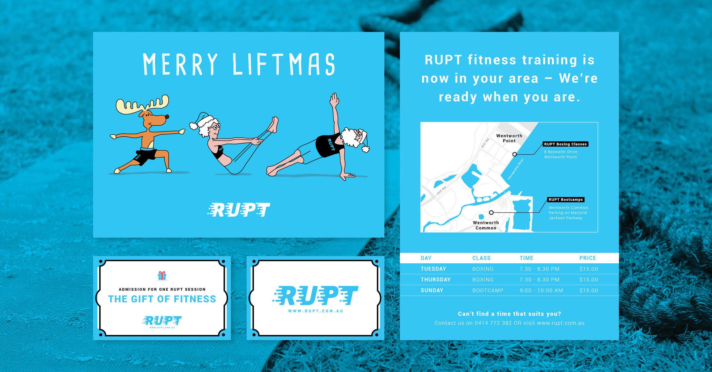 Here are some of the various print collateral pieces that I have designed for RUPT. When you place all your marketing assets side-by-side, there should be a strong consistency throughout!