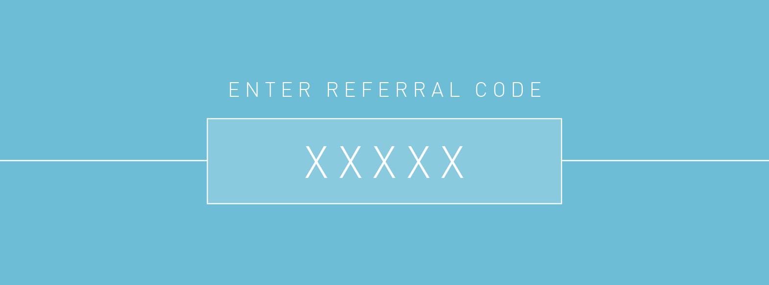 referral code redeem