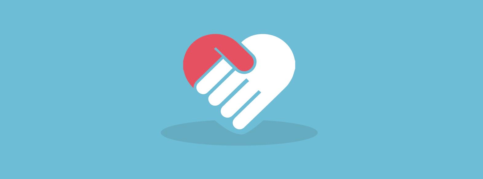 hand shake icon design vector illustration