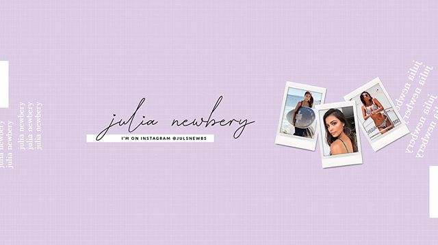 YouTube cover image design for @julsnewbs