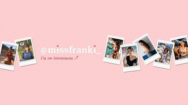 YouTube cover image design for @missfranki_
