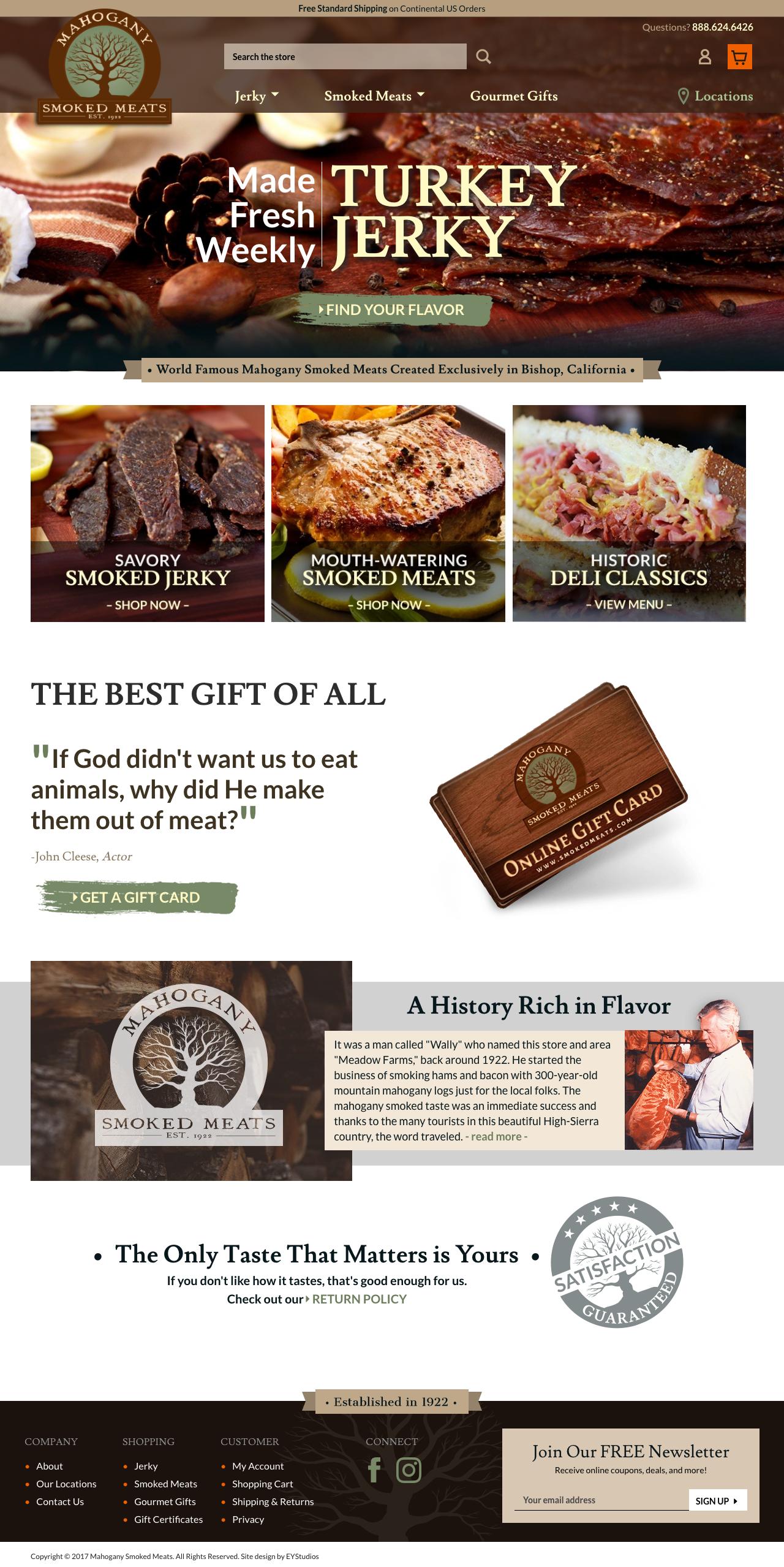 Mahogany Smoked Meats -  www.smokedmeats.com