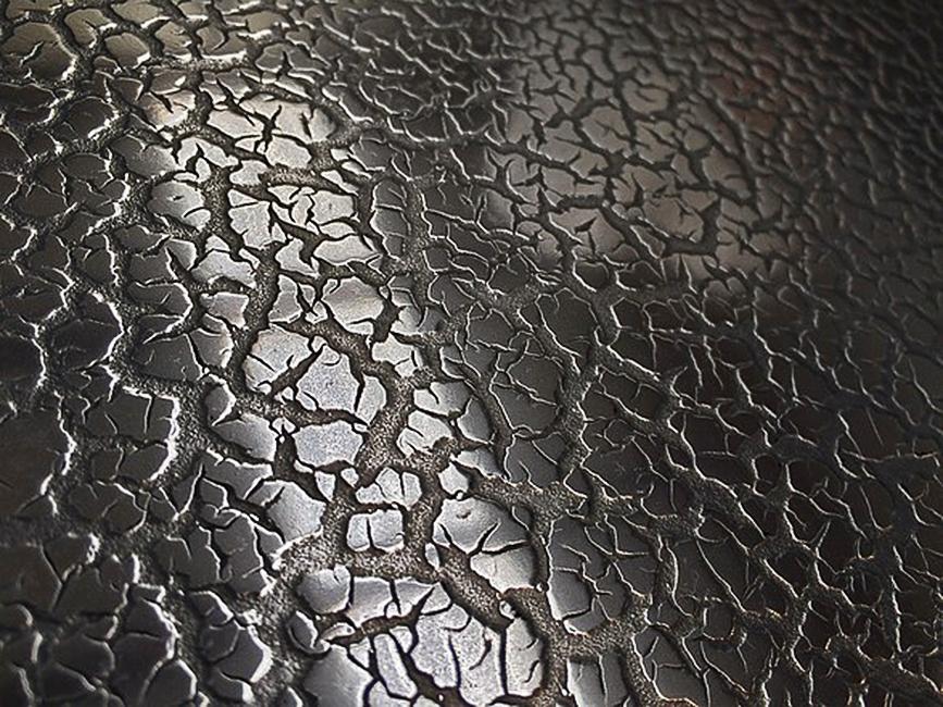55. Reljefinis paviršius padengtas geležimi.
