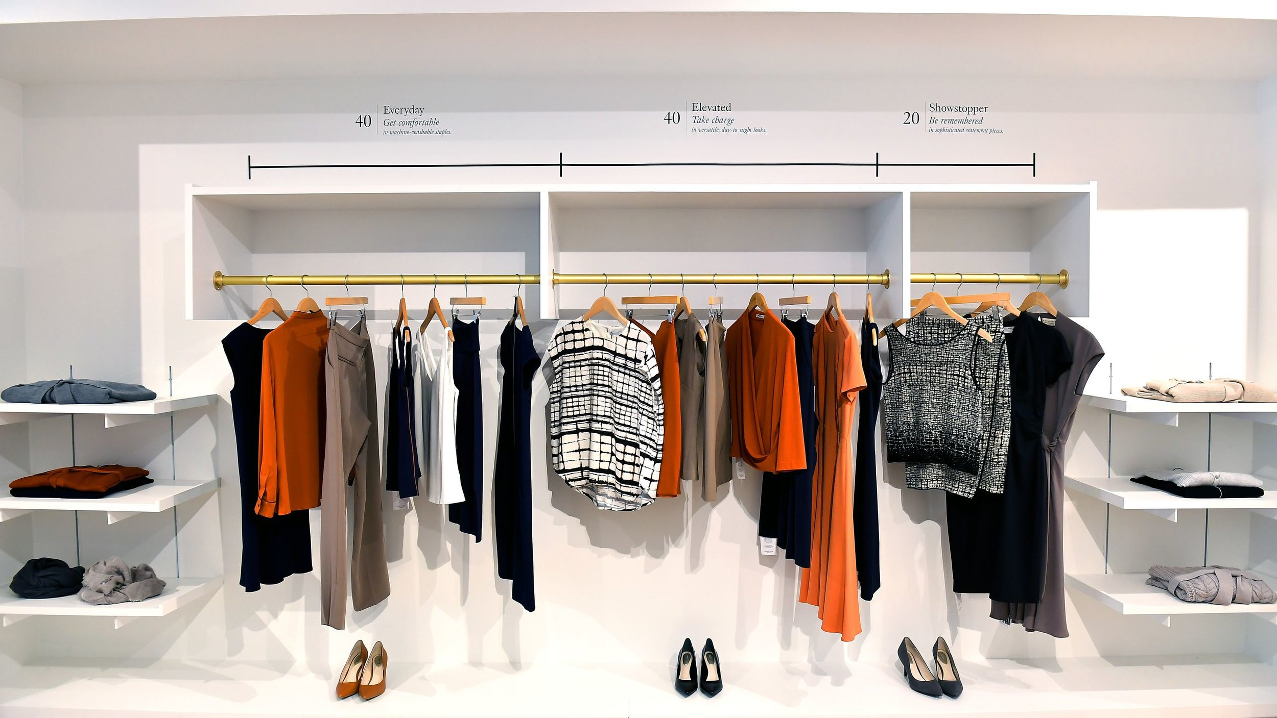 The showroom of MM.Lafleur, which sells professional attire for women. DACA recipient Nejvi Bejko works as a showroom stylist for the apparel company.  Photo: Katherine Frey/The Washington Post via Getty Images