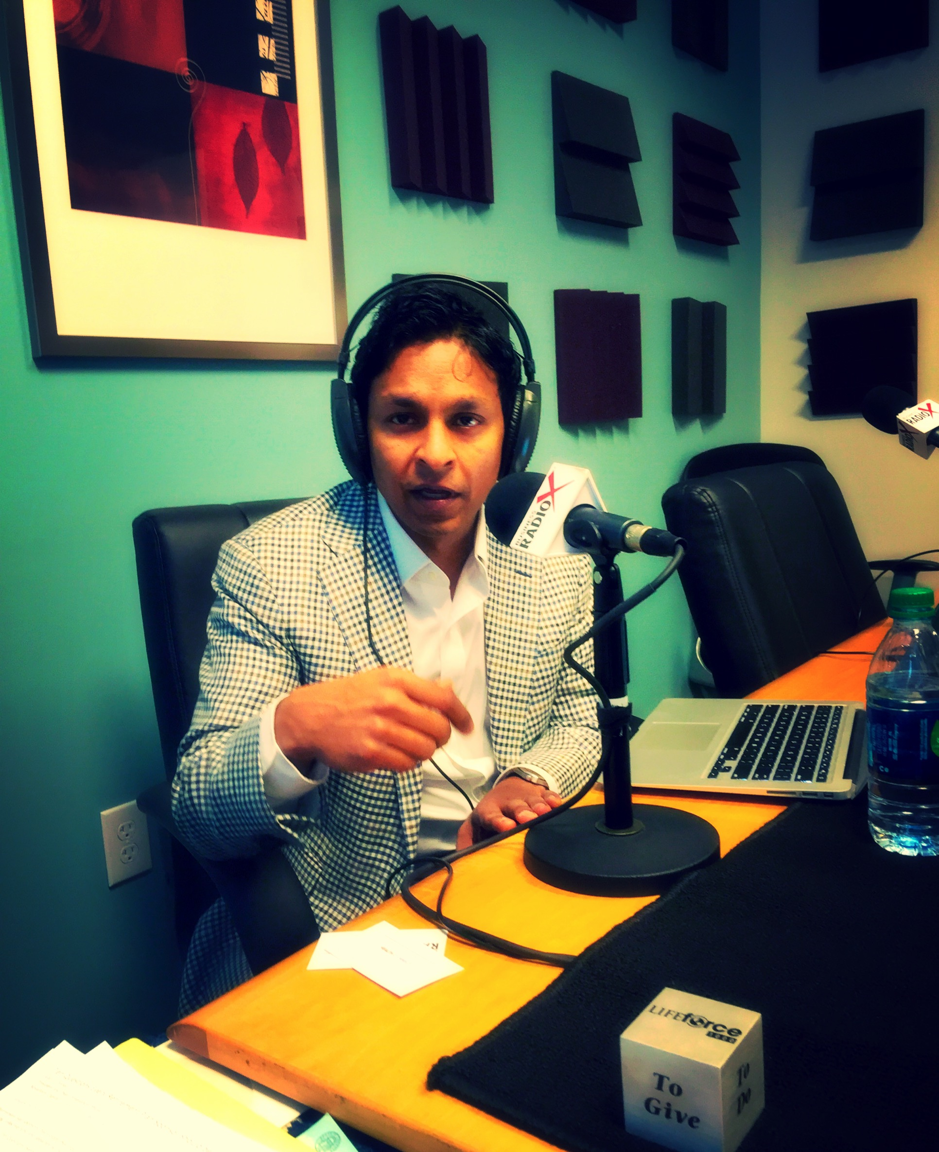 Arun Mohan of Radix Health in the Business RadioX studio