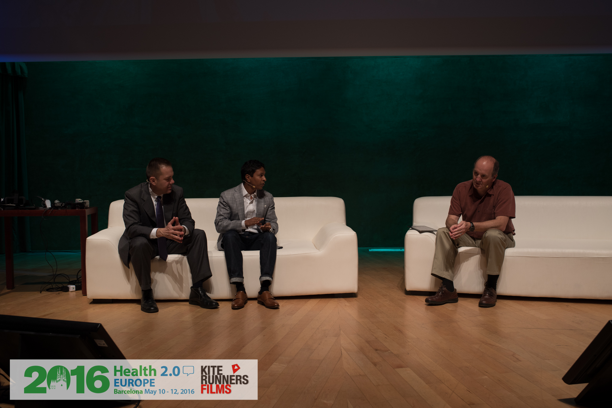 Radix Health Chairman, Arun Mohan, with Dr. Rafael Grossman and Health 2.0 Founder, Matthew Holt.