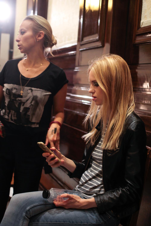 Backstage at London Fashion Scouts - Rohmir