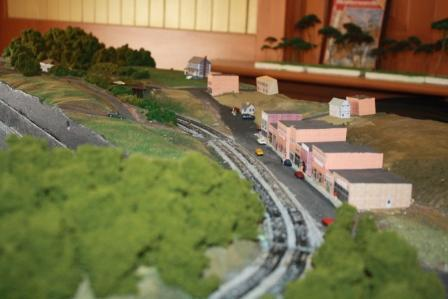 Tracks parallel Main Street, Saluda, NC.