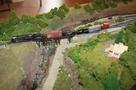 Train leaving Melrose going up the grade.