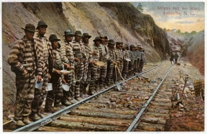 Convict labor was used to build the railroads in western NC.