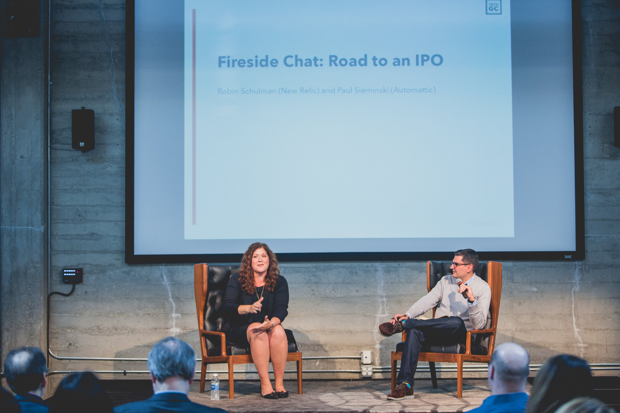 Robin Schulman, General Counsel, New Relic and Paul Sieminski, General Counsel, Automattic