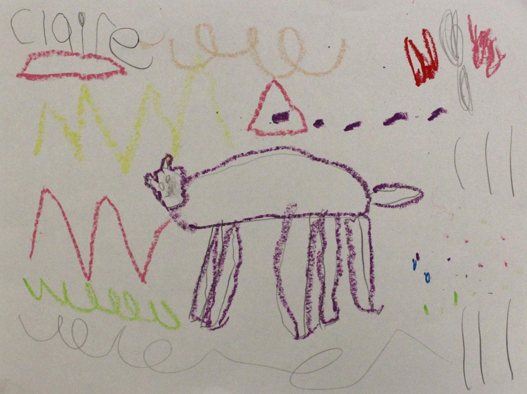 Kindergarten: Claire Rudisill (Cave Art: Work In Progress)