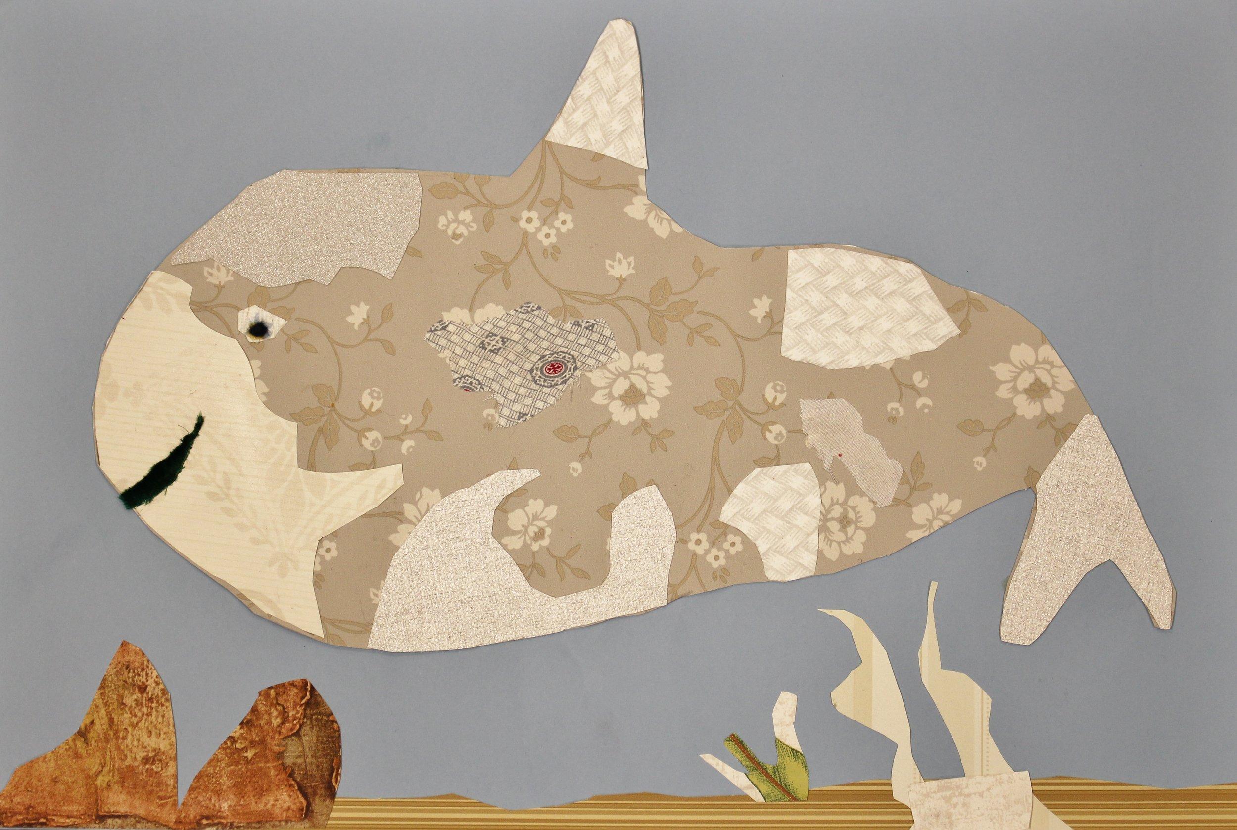 4th Grade: Grace Adams (Michel Keck Collage Animal)