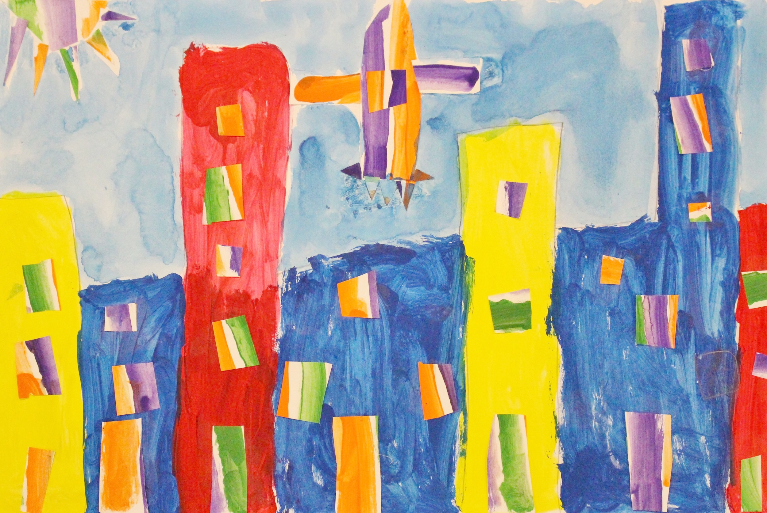 First Grade:  Adrian Martinez Conley (Primary and Secondary Colored Cities)