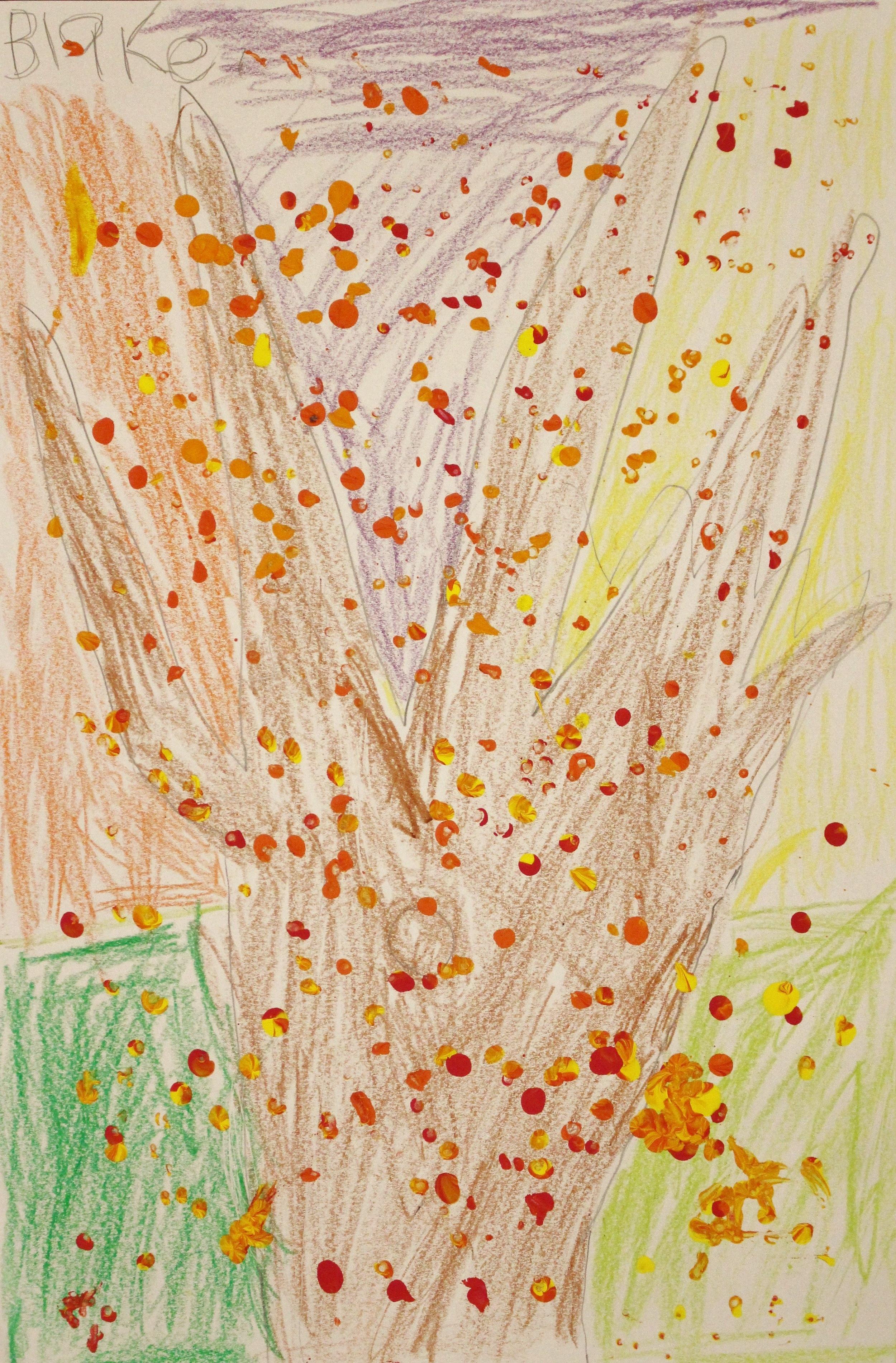 Kindergarten: Blake Bitler (Fall Tree)