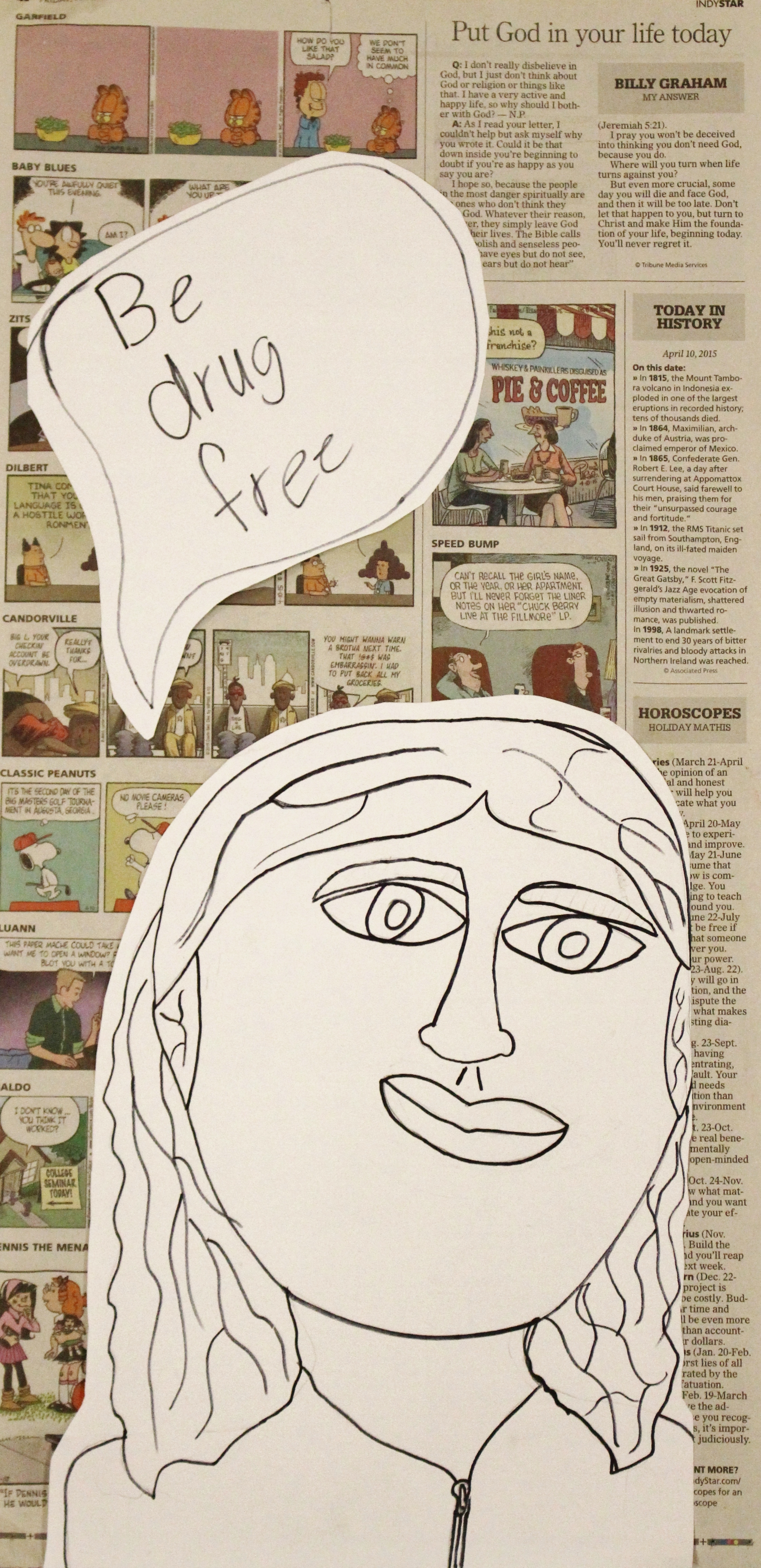 Third Grade: Andrea Lopez (Pop Art Self-Portrait)