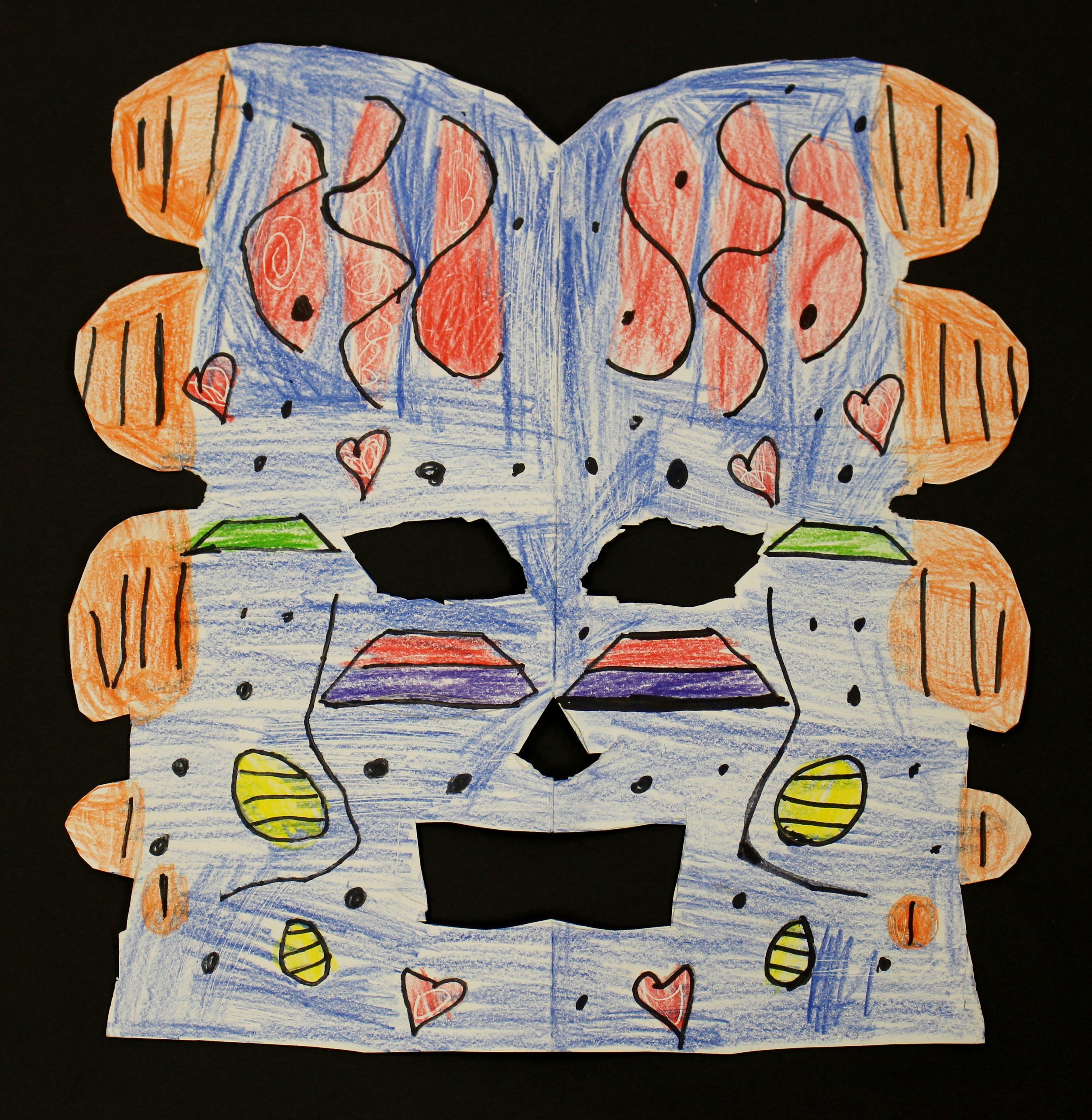 Second Grade: Lily Cripe (Symmetrical Masks-work in progress)