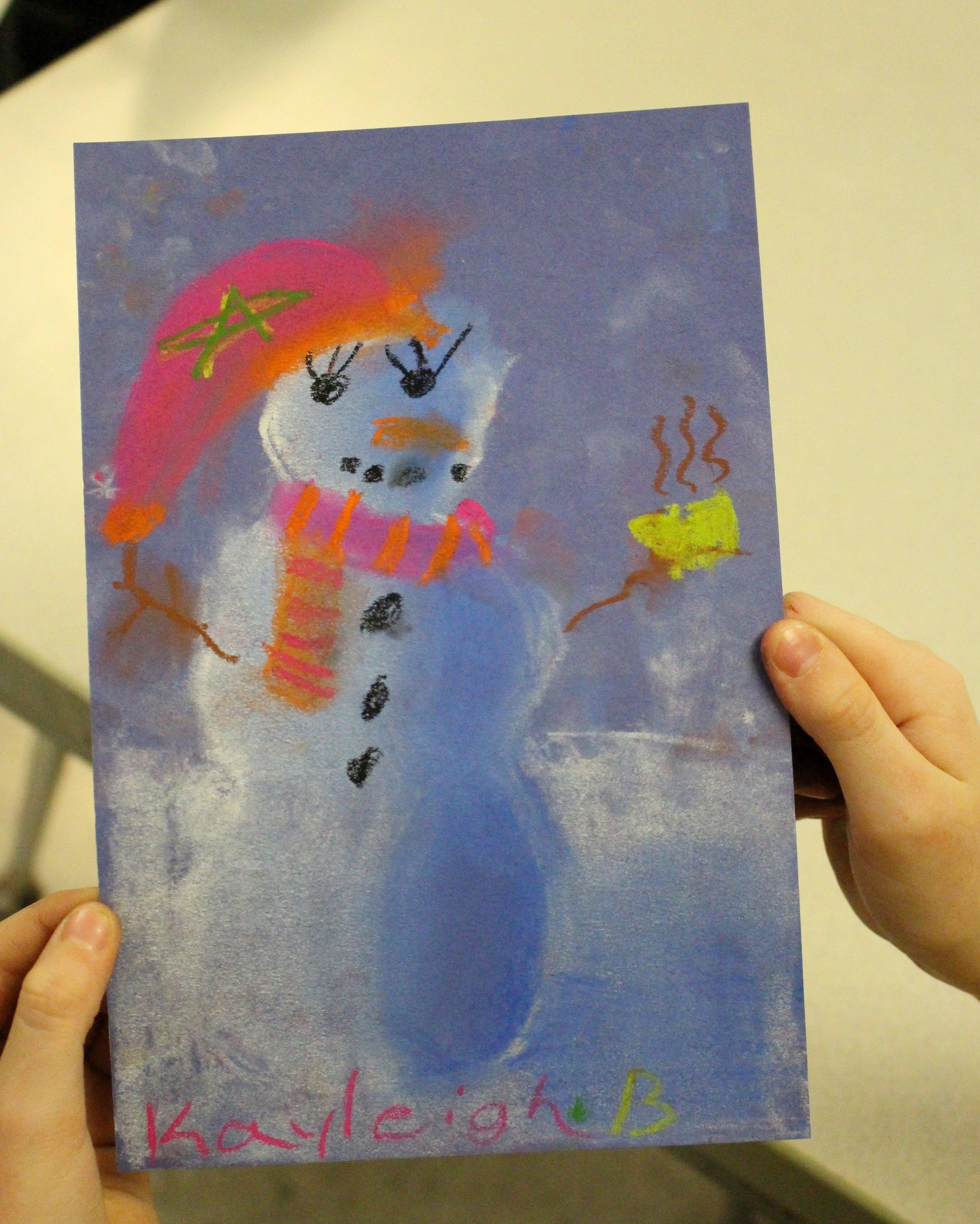 Third Grade: Kayleigh Burton (Snowmen At Night Practice)