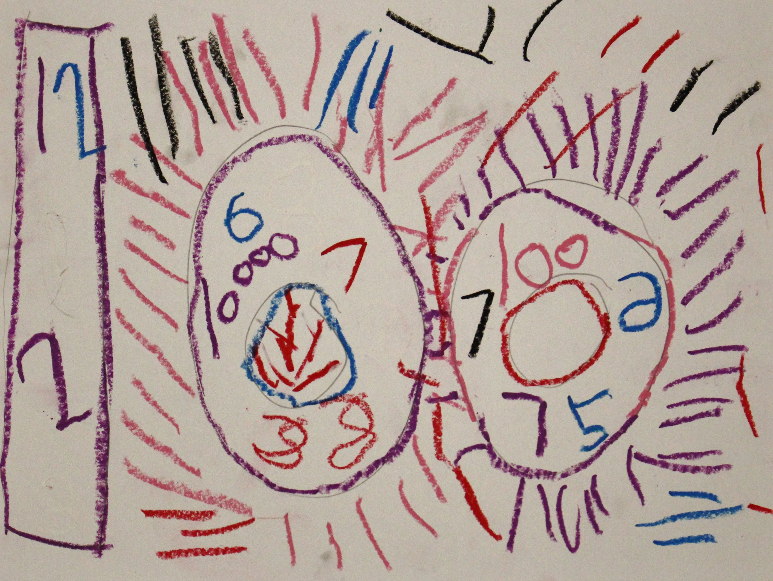 Kindergarten: Briar Durham-Jasper Johns Numbers!(Work in Progress)