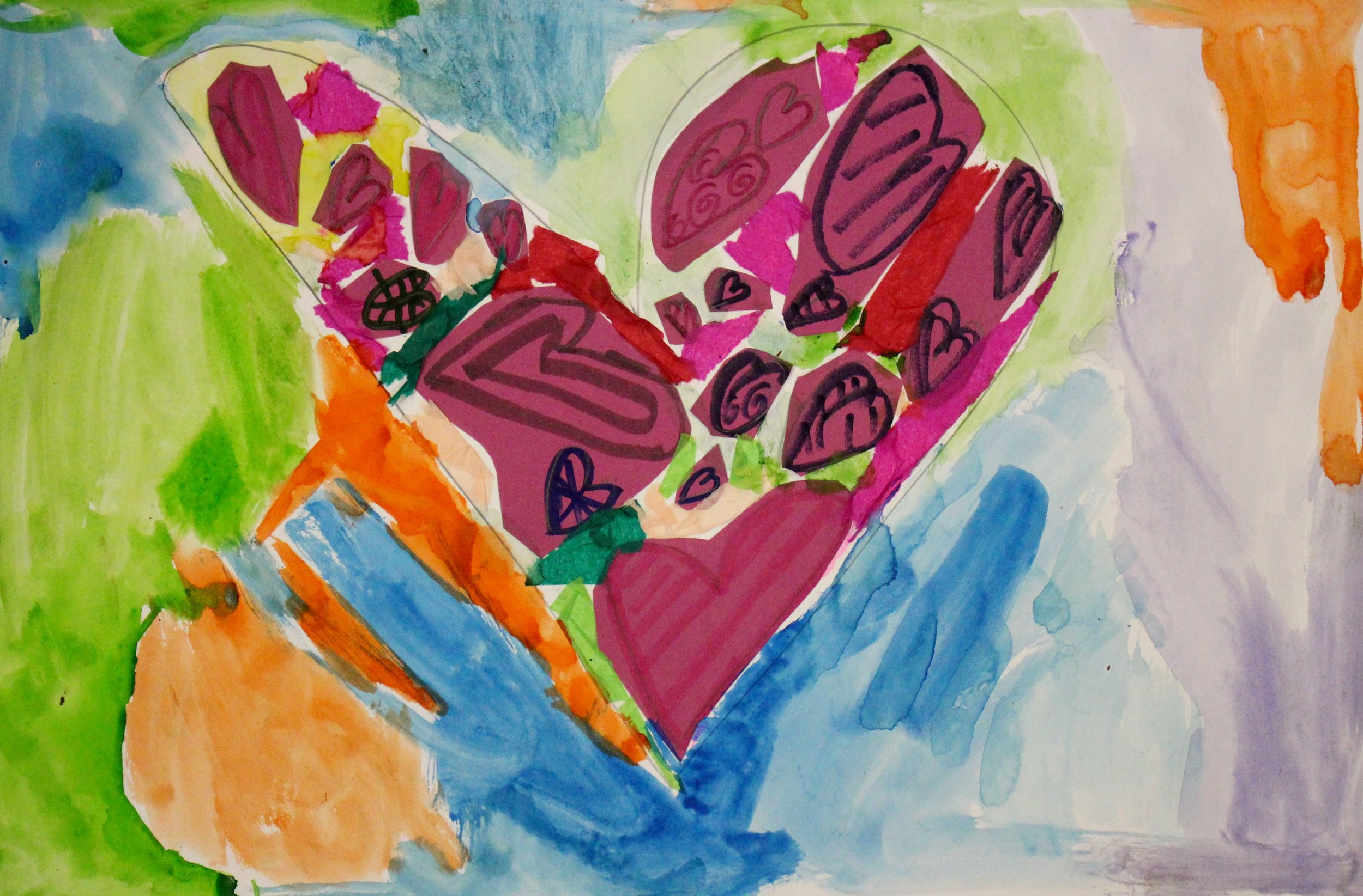 First Grade: Mya Whaley: Jim Dine Hearts