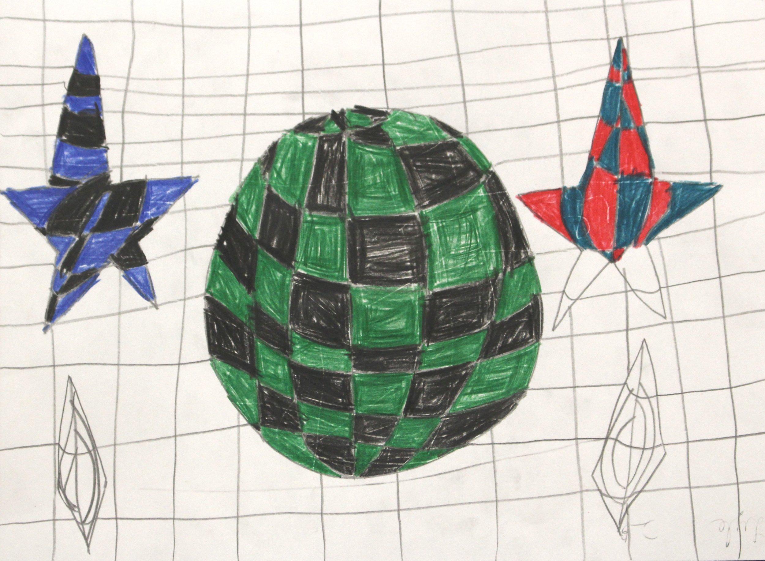 Second Grade: Lyle Harrington (OP Art: Work in Progress)