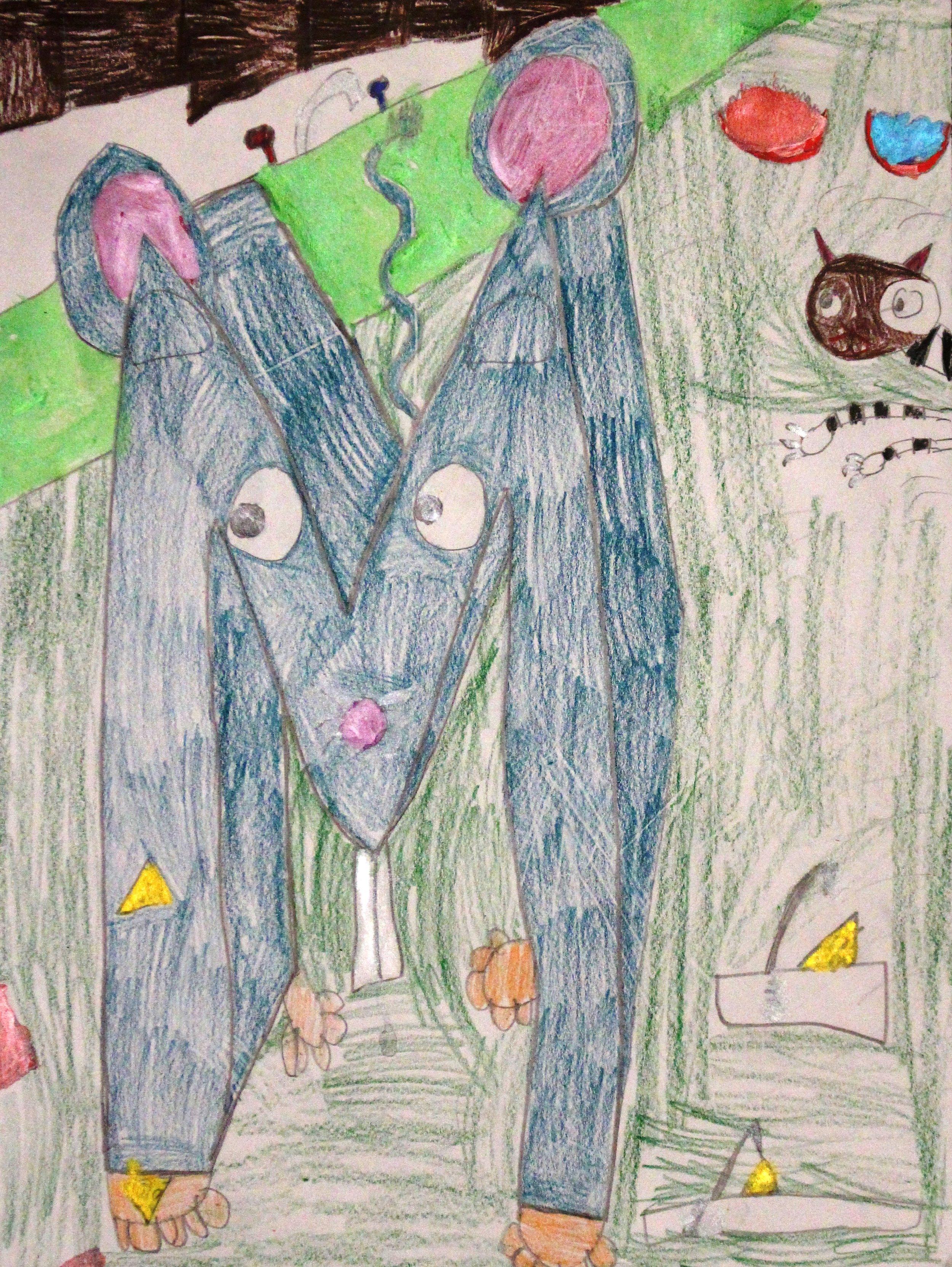 Fifth Grade: Ezekiel Gonzalez (Illuminated Manuscript Letter)