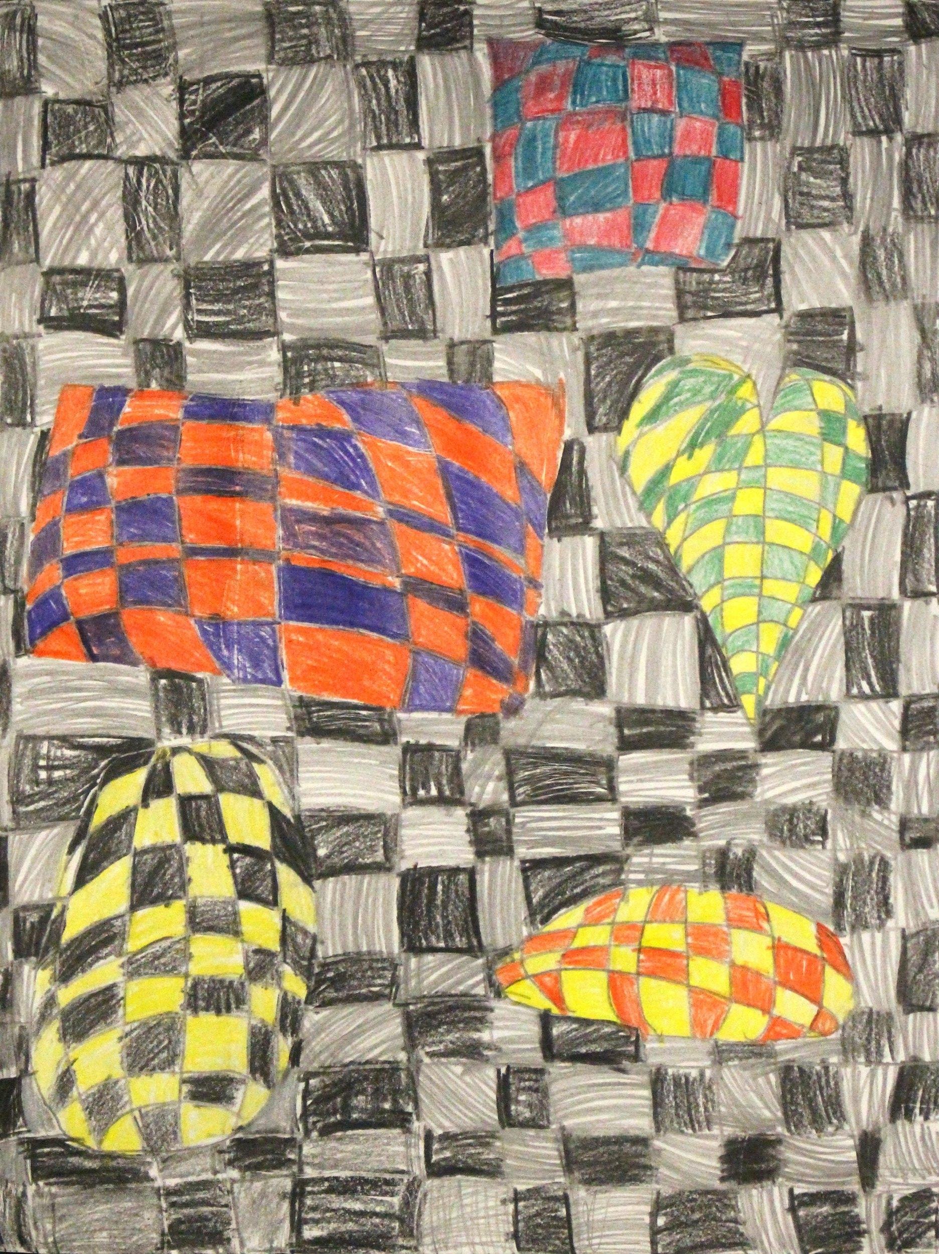 Second Grade: Rhys Barton (Op Art)