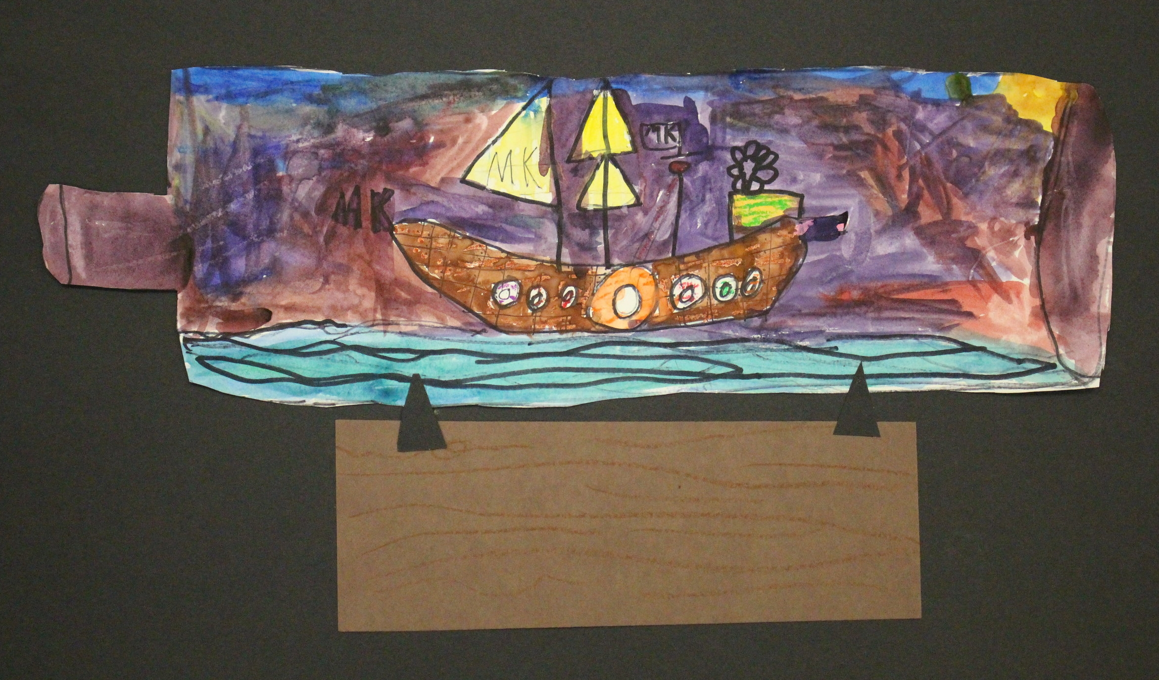 3rd Grade: Madeline Kunz- Ship in a Bottle
