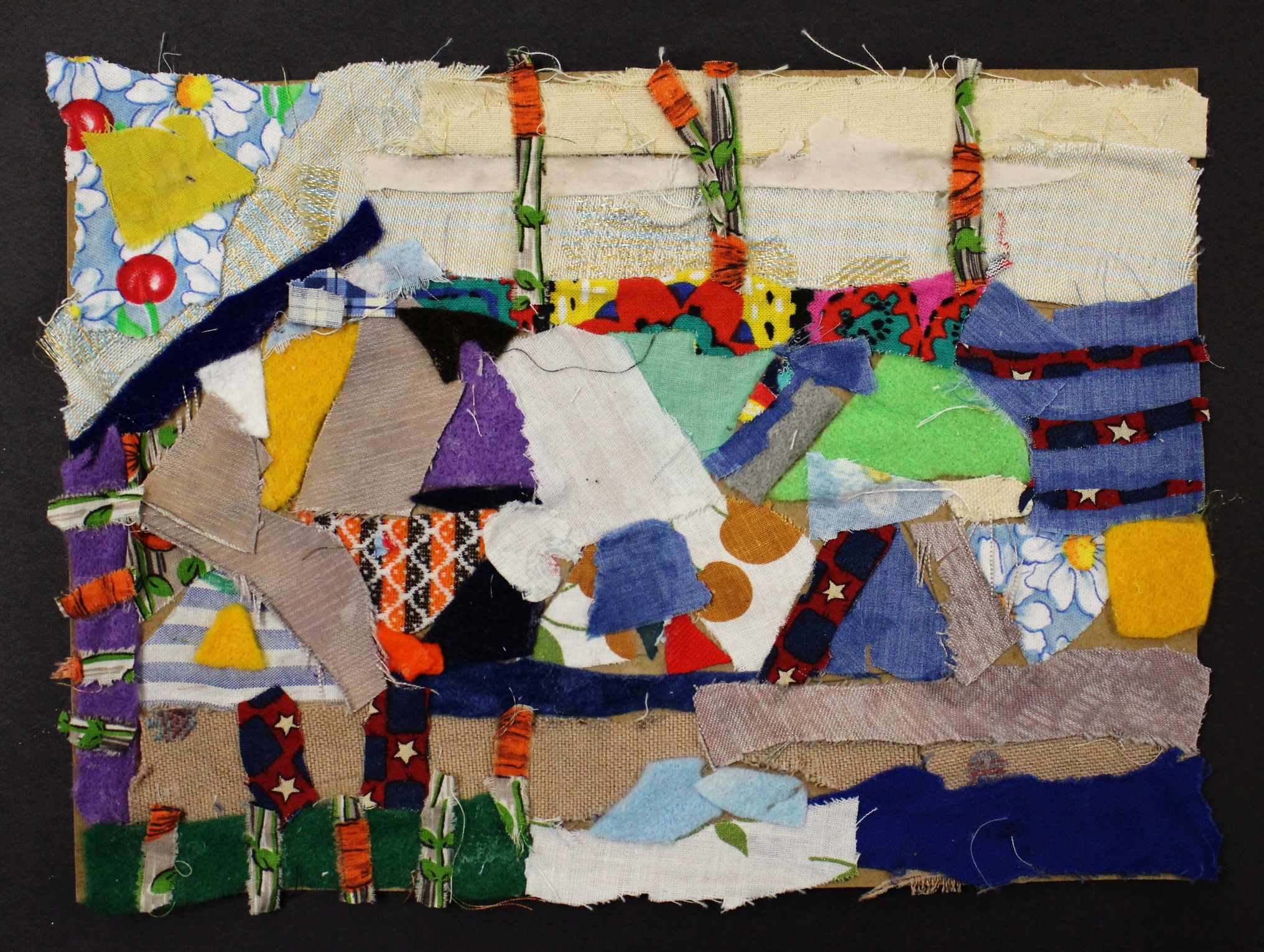 4th Grade: Addison Strasburger (Abstract Textile Collage)