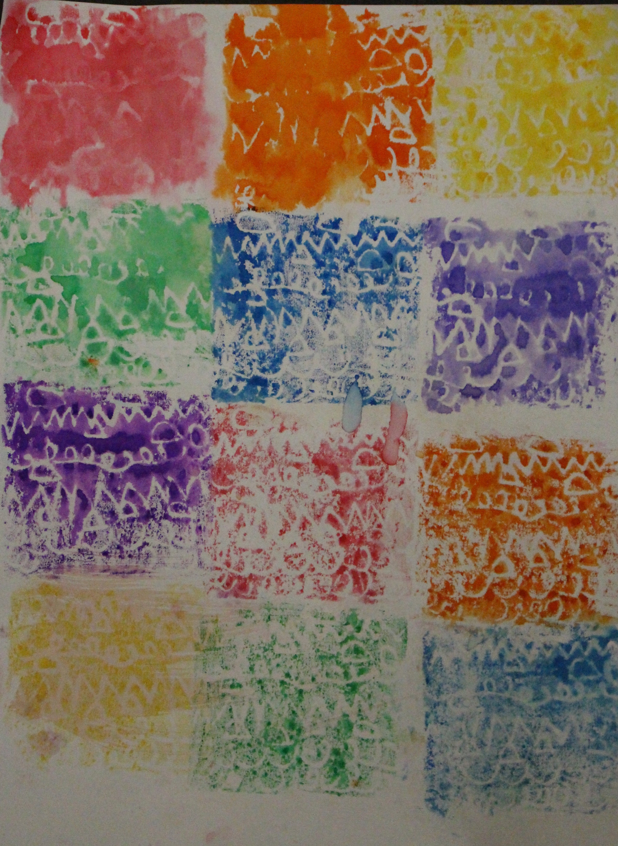 First Grade: Shelby Szkopiec- Rainbow Print Quilt(Work in Progress)