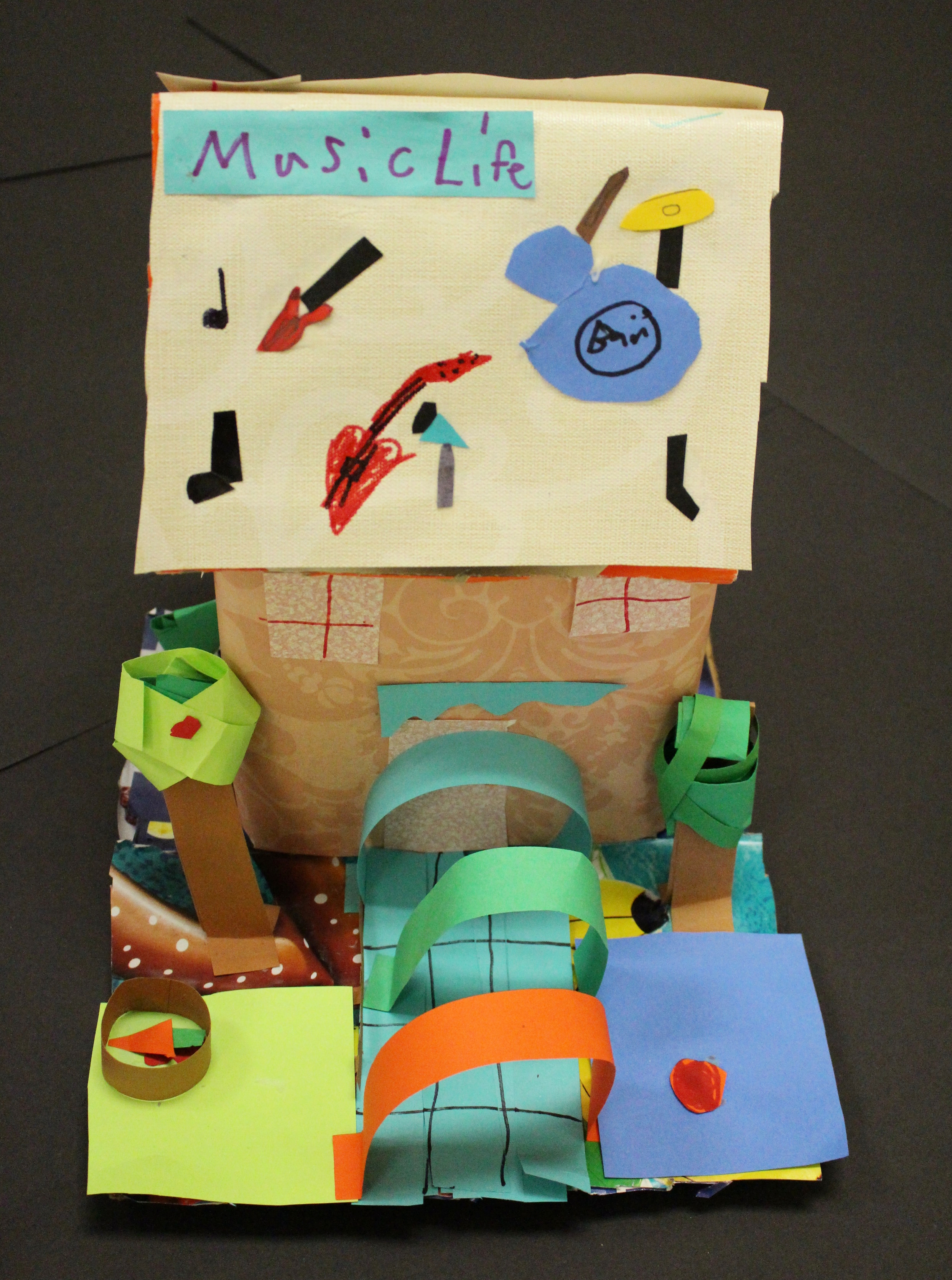 Fourth Grade: Kiera Hall- Twisted Fairy Tale House: Recycled Art