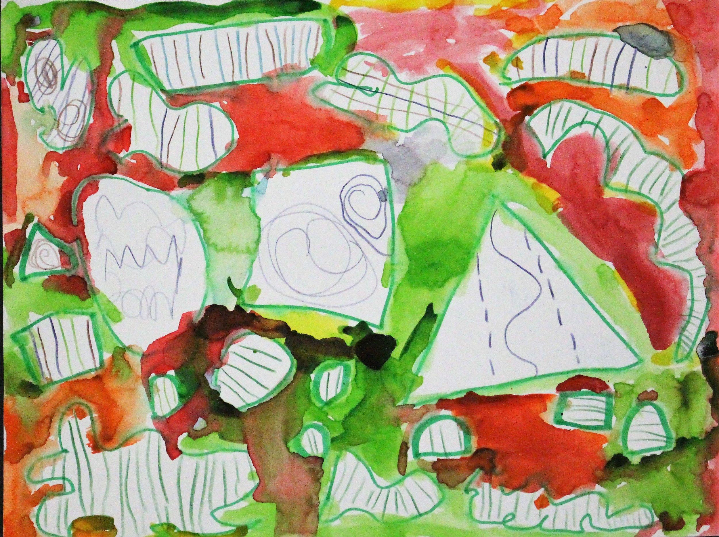 1st Grade:Liam R. - Artwork: Kandinsky Lines,Shape, and Color