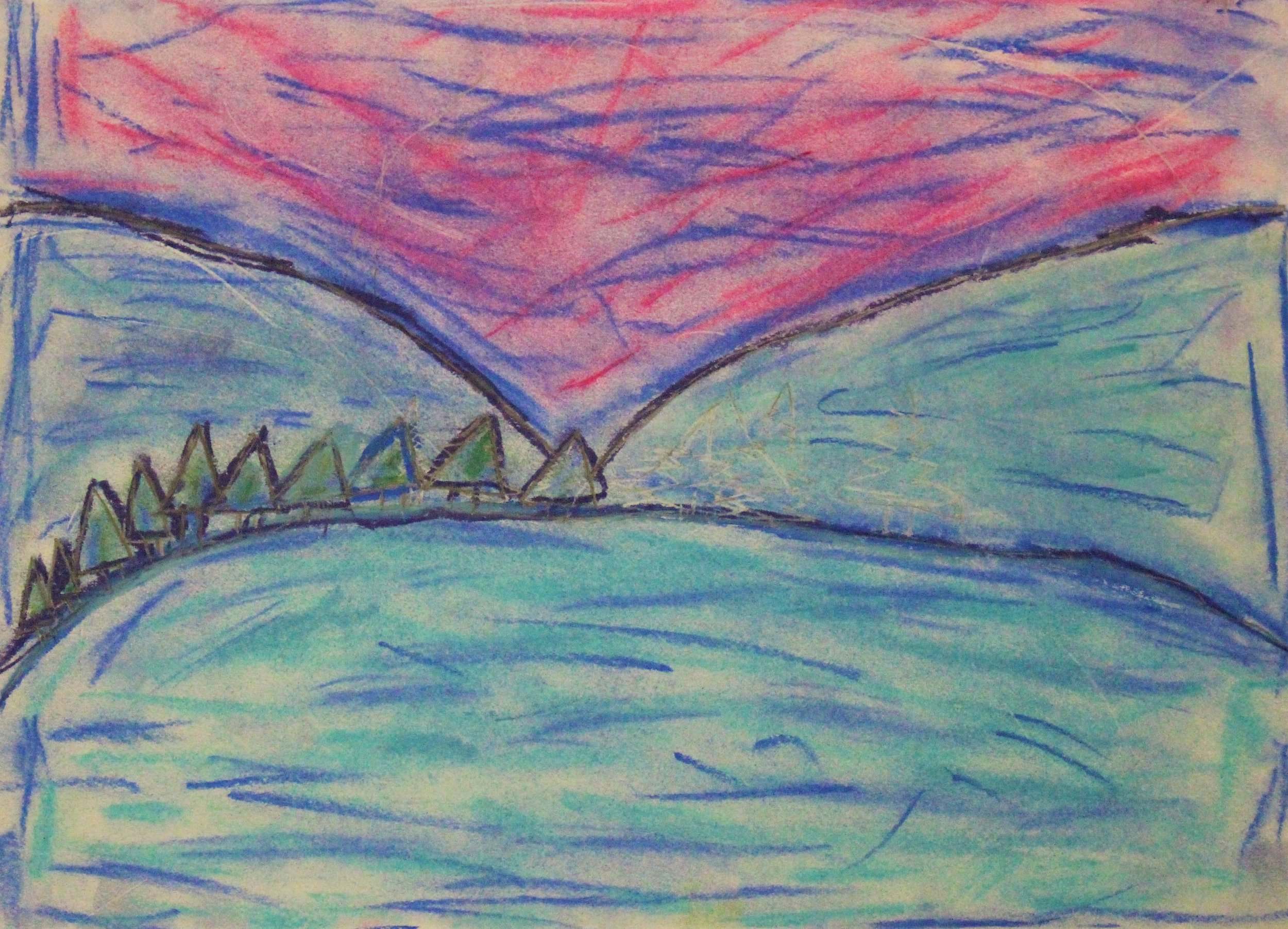 4th Grade:Alayna M. - Exploring Impressionism/Post-Impressionism with Landscapes