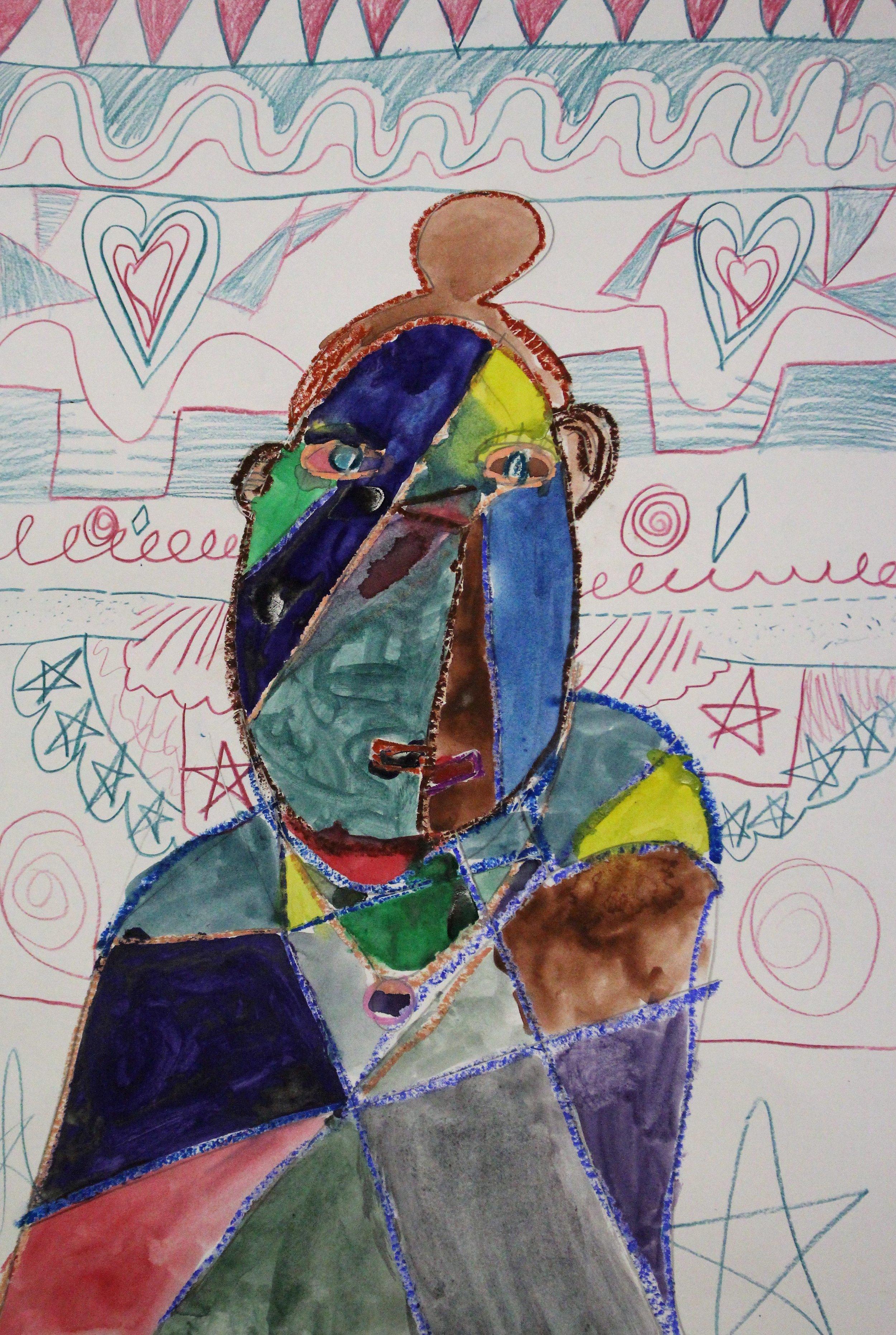 3rd Grade:Bri M. - Picasso Self Portrait