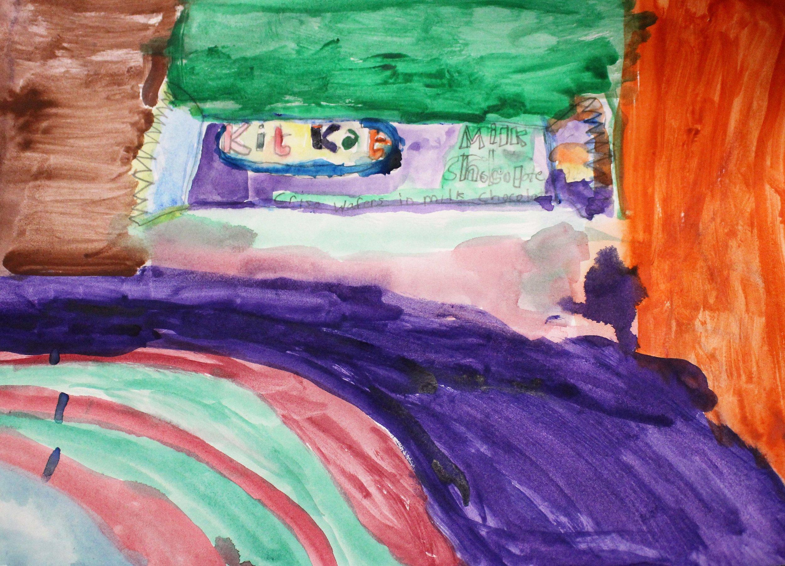 4th Grade:Anahi B. - Pop Art: Candy