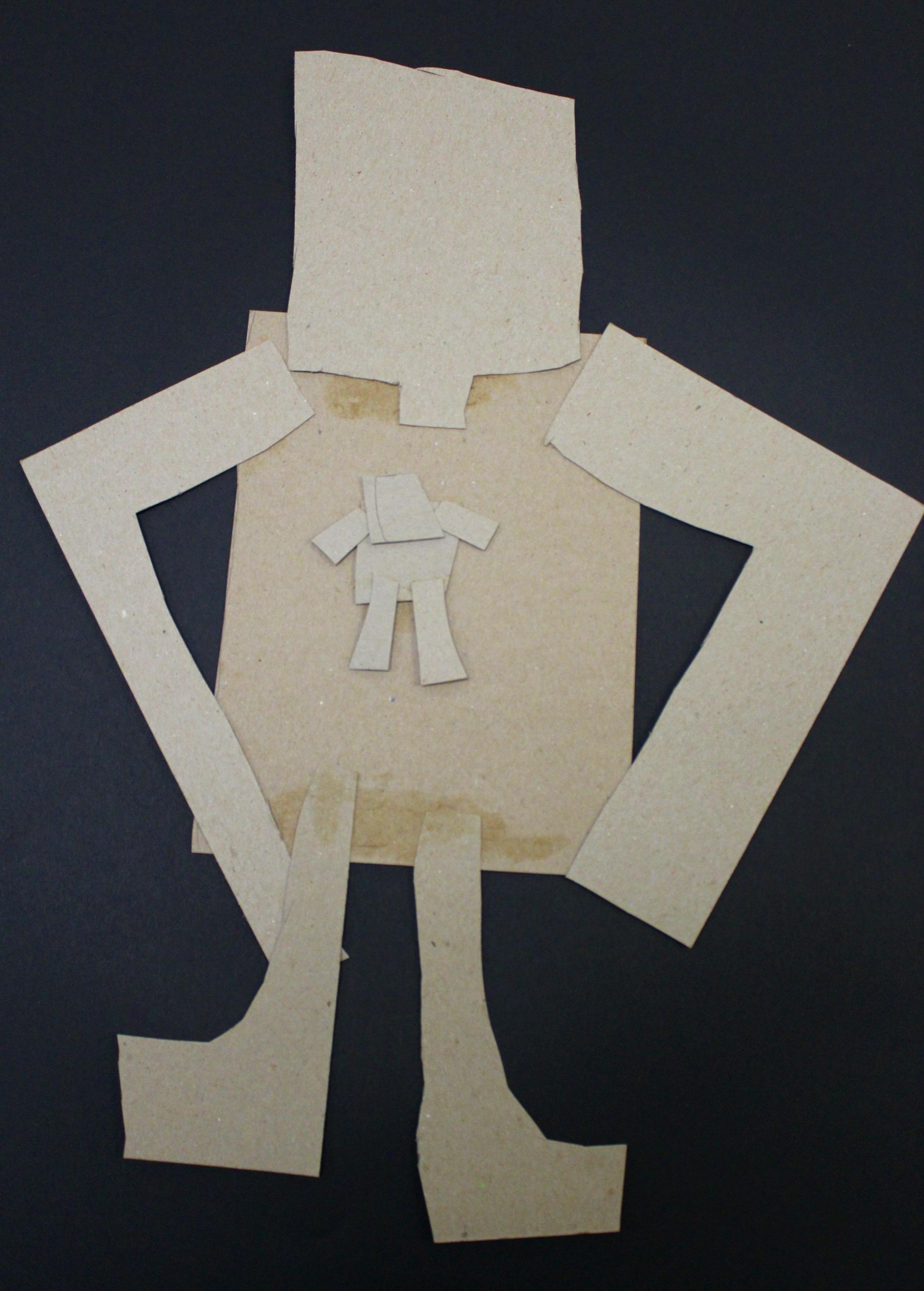 1st Grade: Thomas B. - Recycled Robots (Work In Progress)
