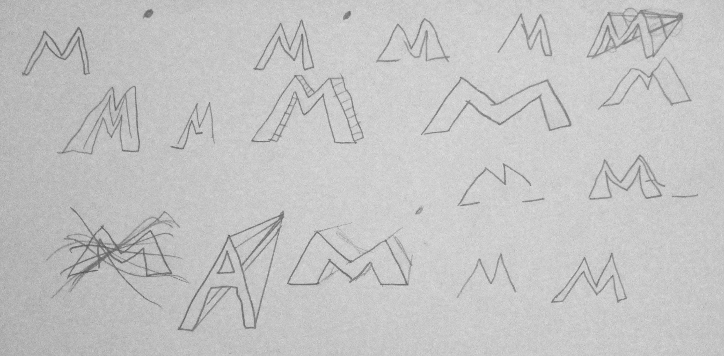5th Grade: Matthew A. - Illuminated Initial Sketch Practice(Work In Progress)