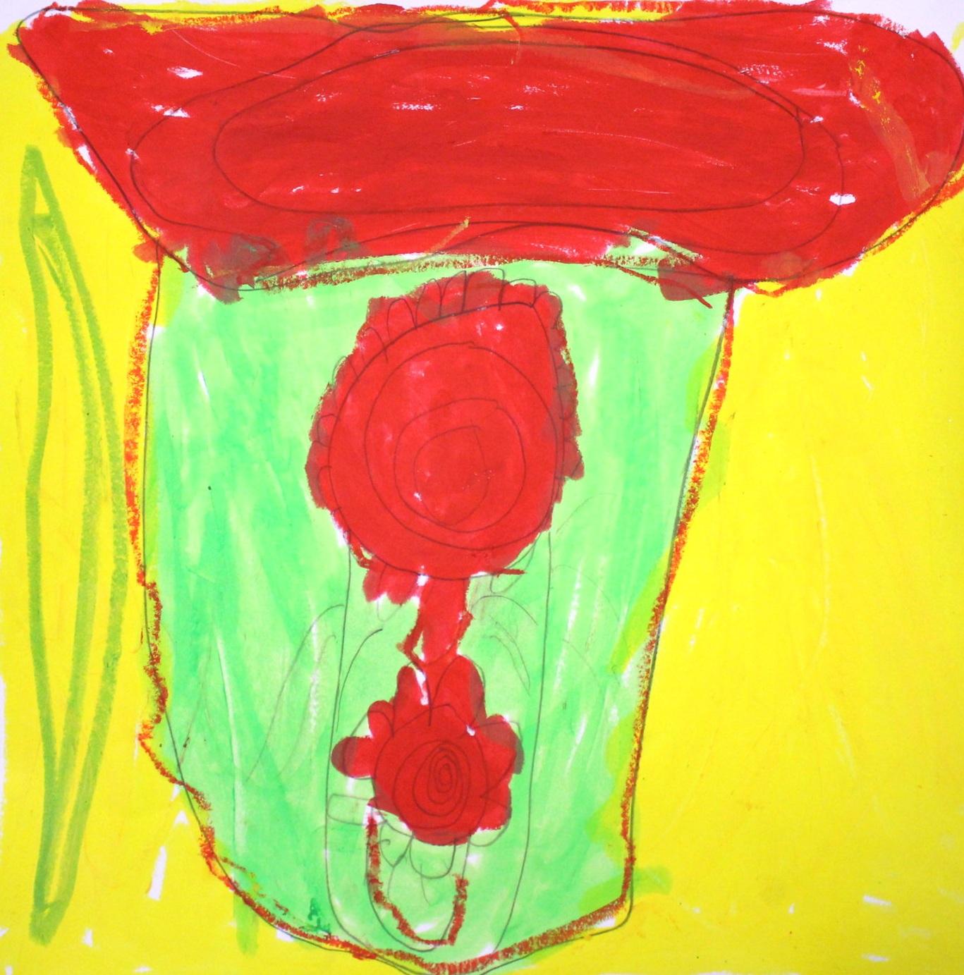 Grade 1: William A. - Georgia O'Keeffe Inspired Flowers