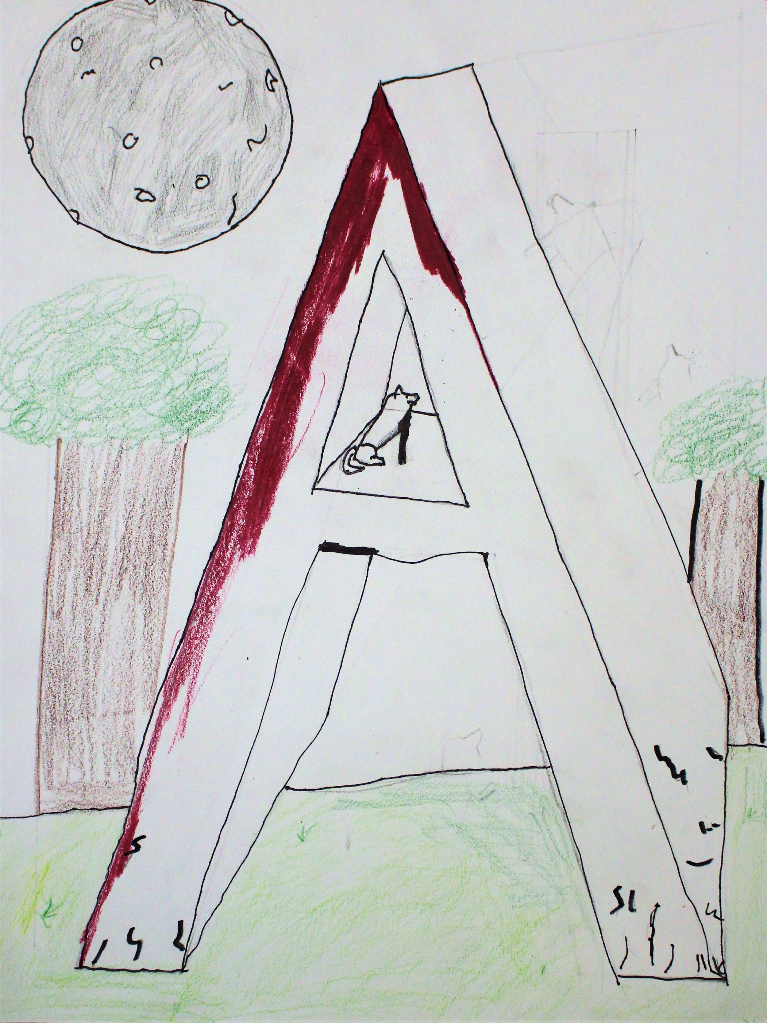 Grade 5: Alyssa C. - Illuminated Initial (Work In Progress)