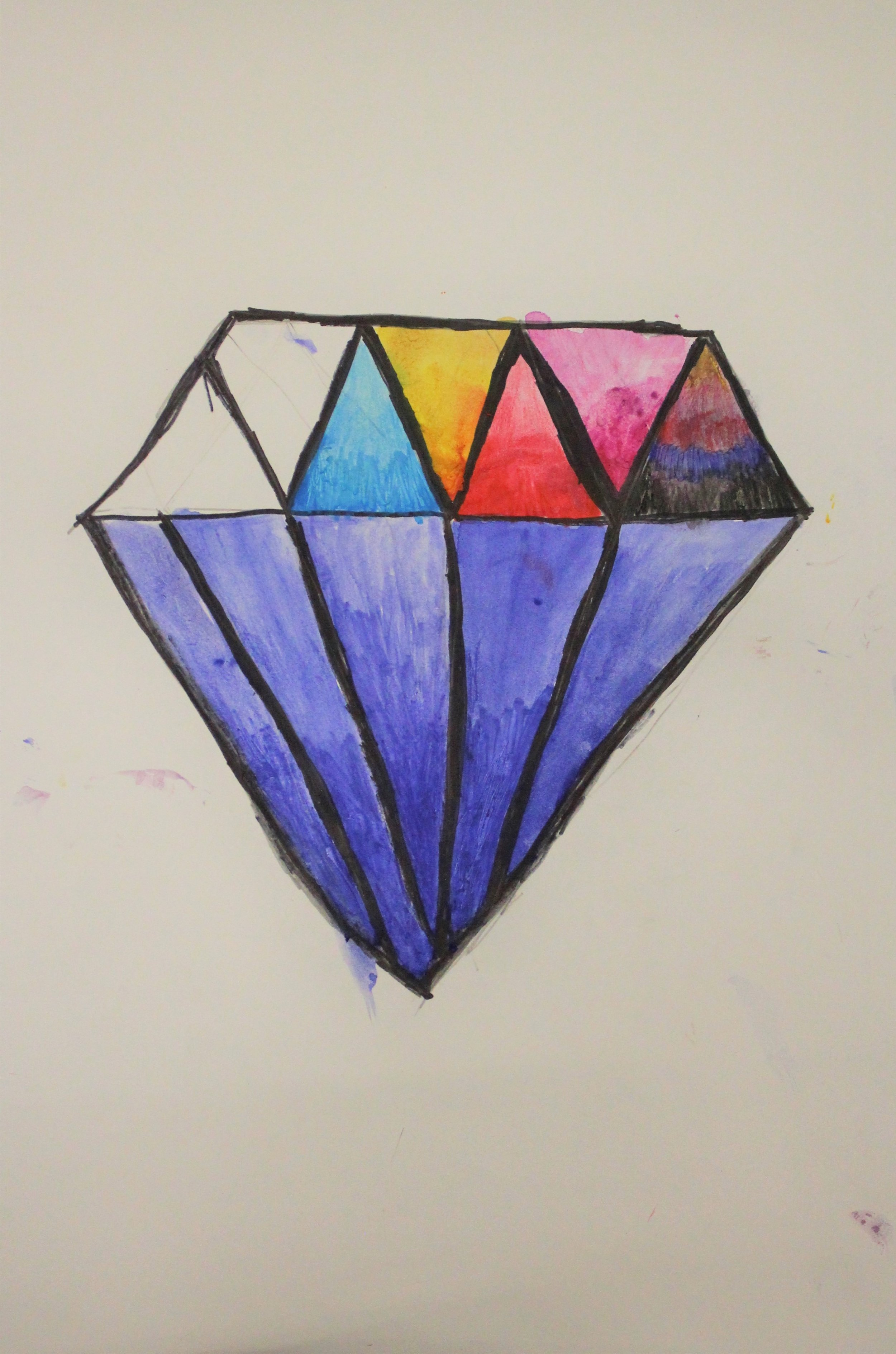 Grade 4 Rocks and Crystals exploring Value: Abbigail C.(Work in Progress)