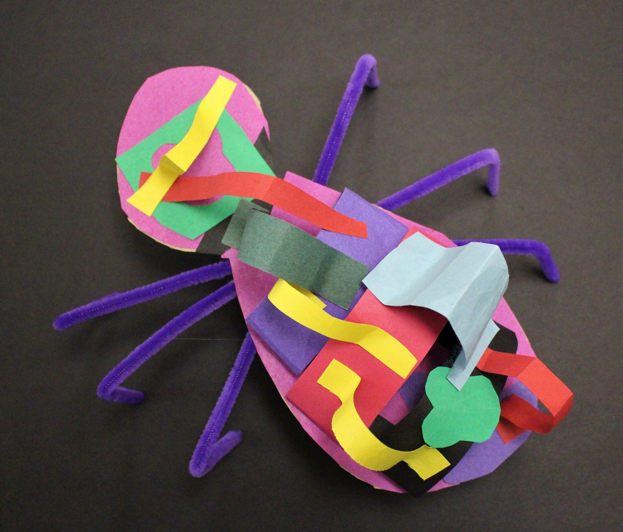 3rd Grade: Hailey L.  Insect Paper Sculpture