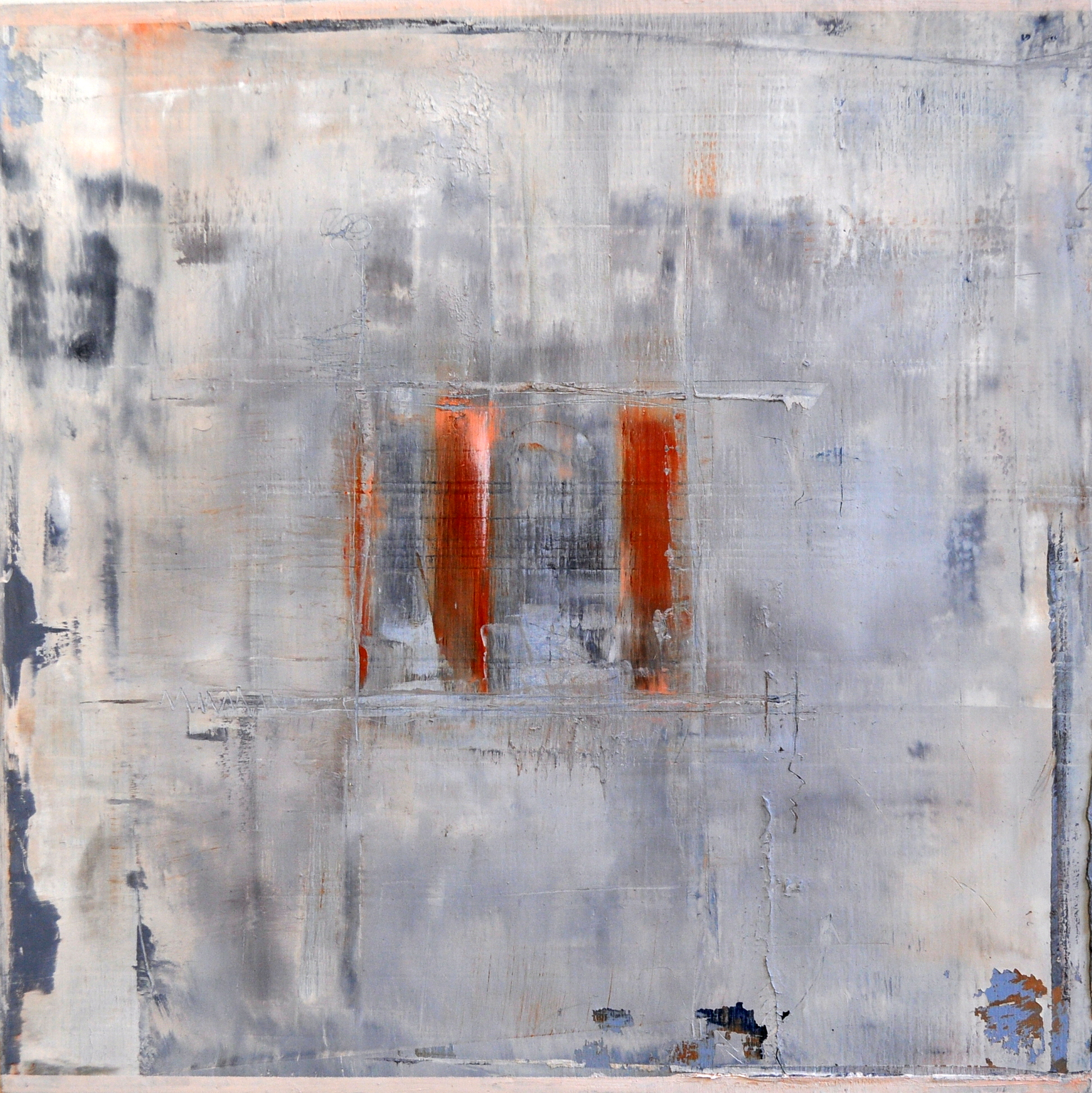 Fence Mending_oil and cold wax _wood panel_10x10_250.JPG