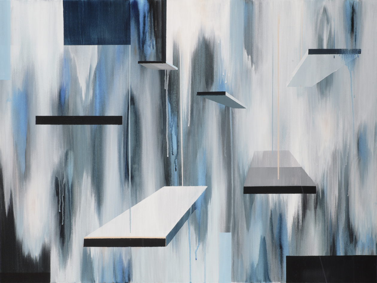 Available Painting: Dark Paradise, Glass Swings VIII, Acrylic on Canvas, 30x40 inches