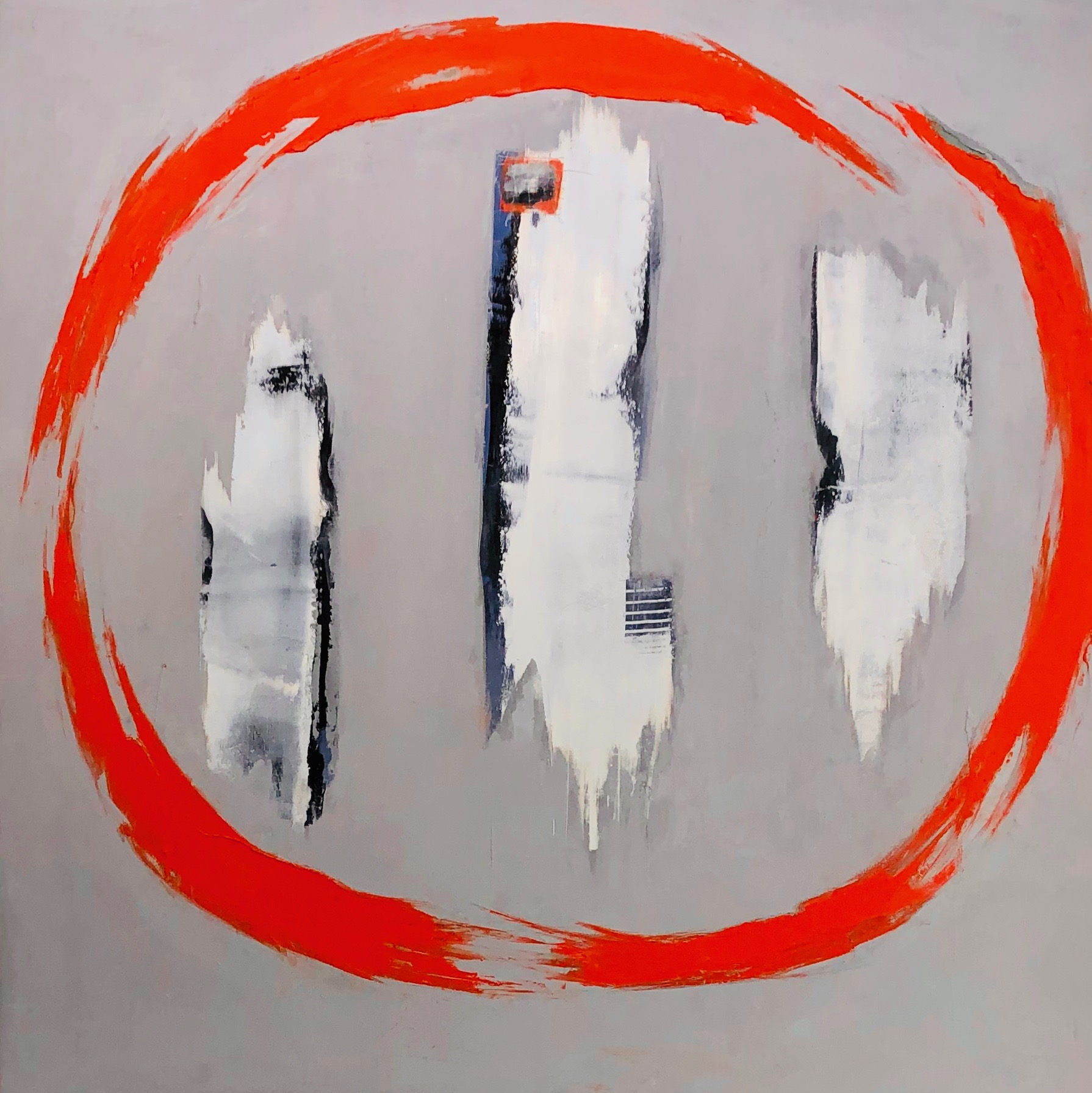 Fence Mending_Oil and Cod Wax on Panel_48x48 inches.jpg