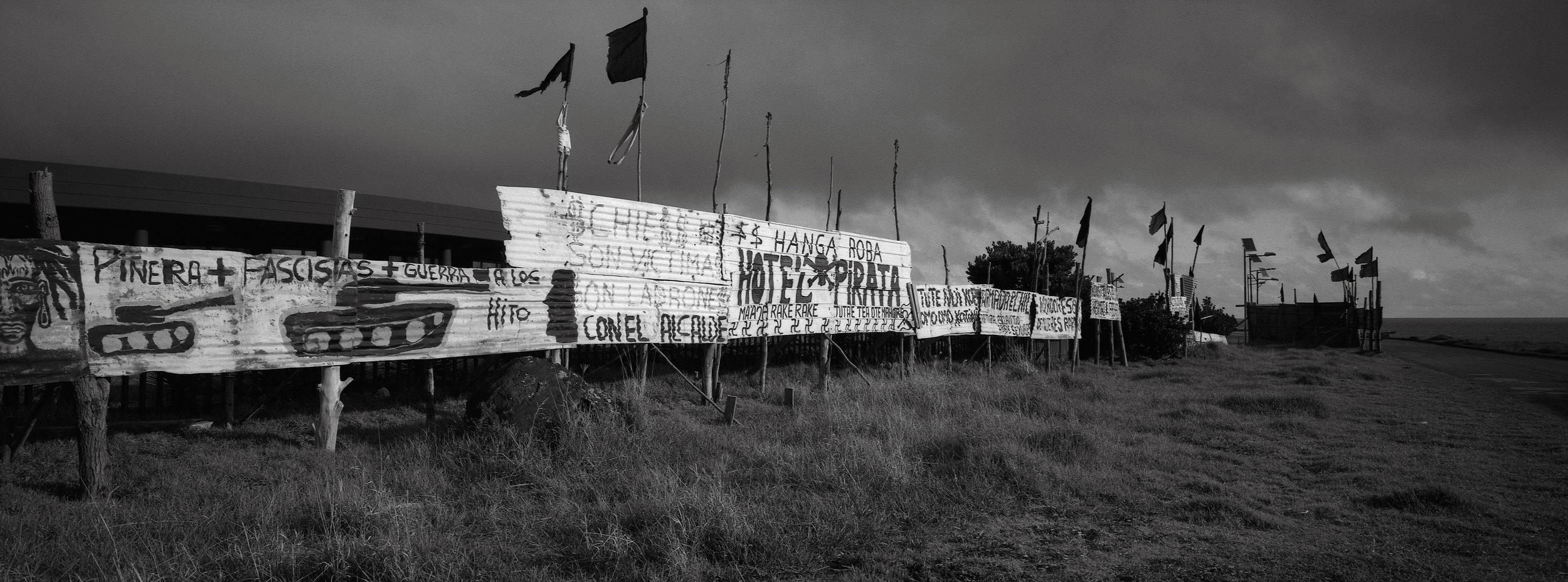 Protest, Hanga Roa, Easter Island
